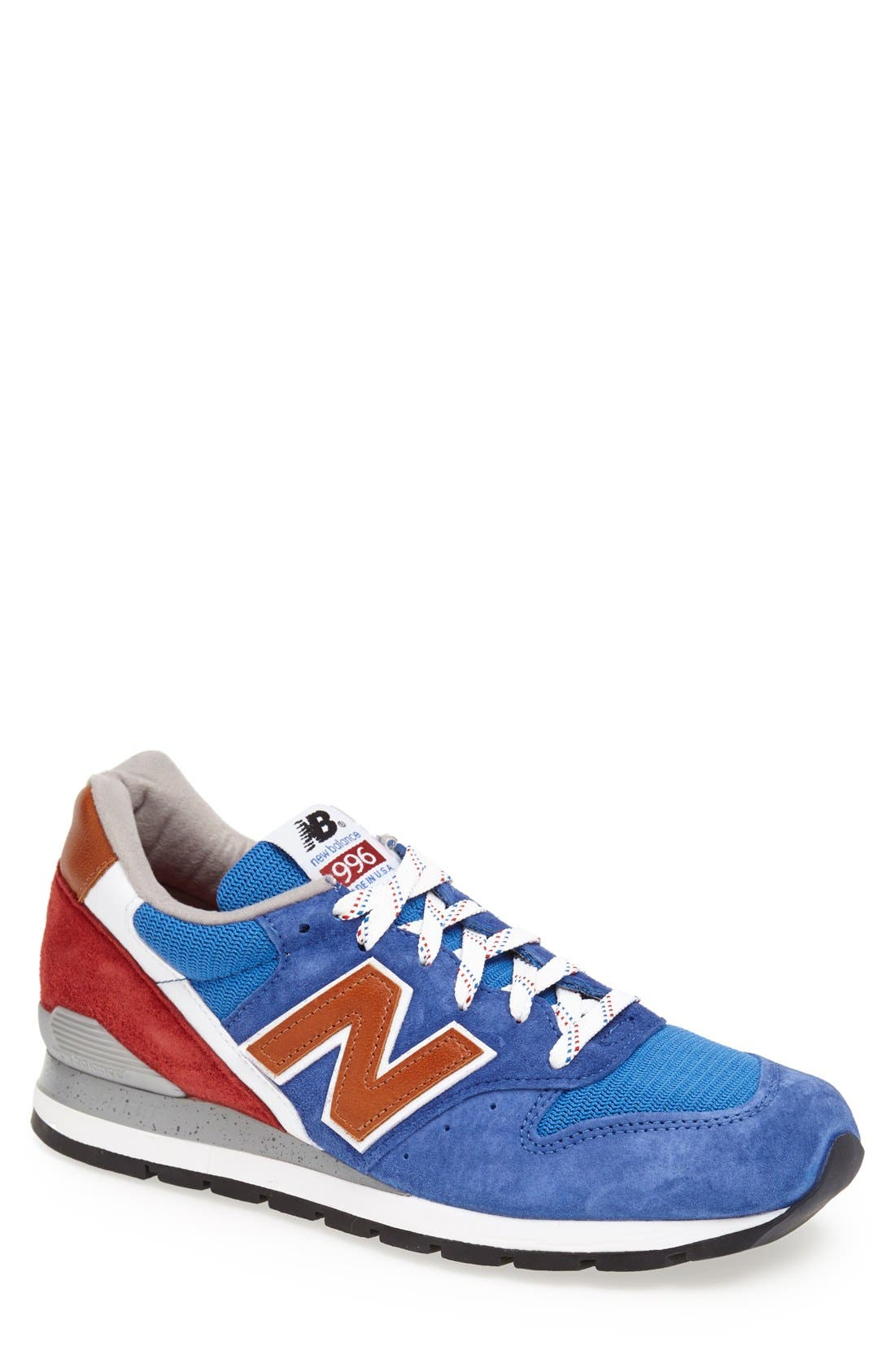 '996' Sneaker,                             Main thumbnail 1, color,                             Blue/Red