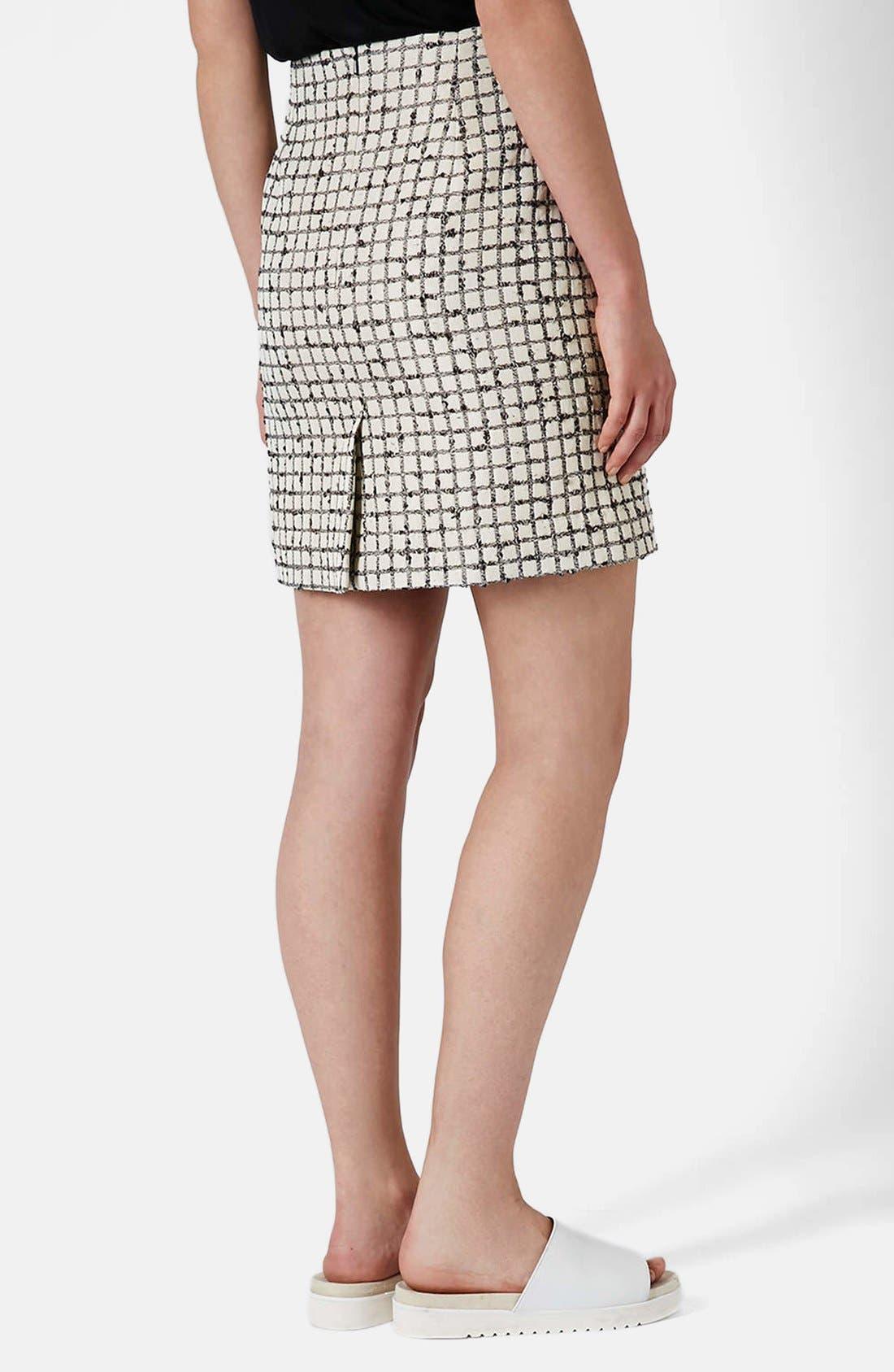 Alternate Image 2  - Topshop Boutique Textured Grid Pencil Skirt