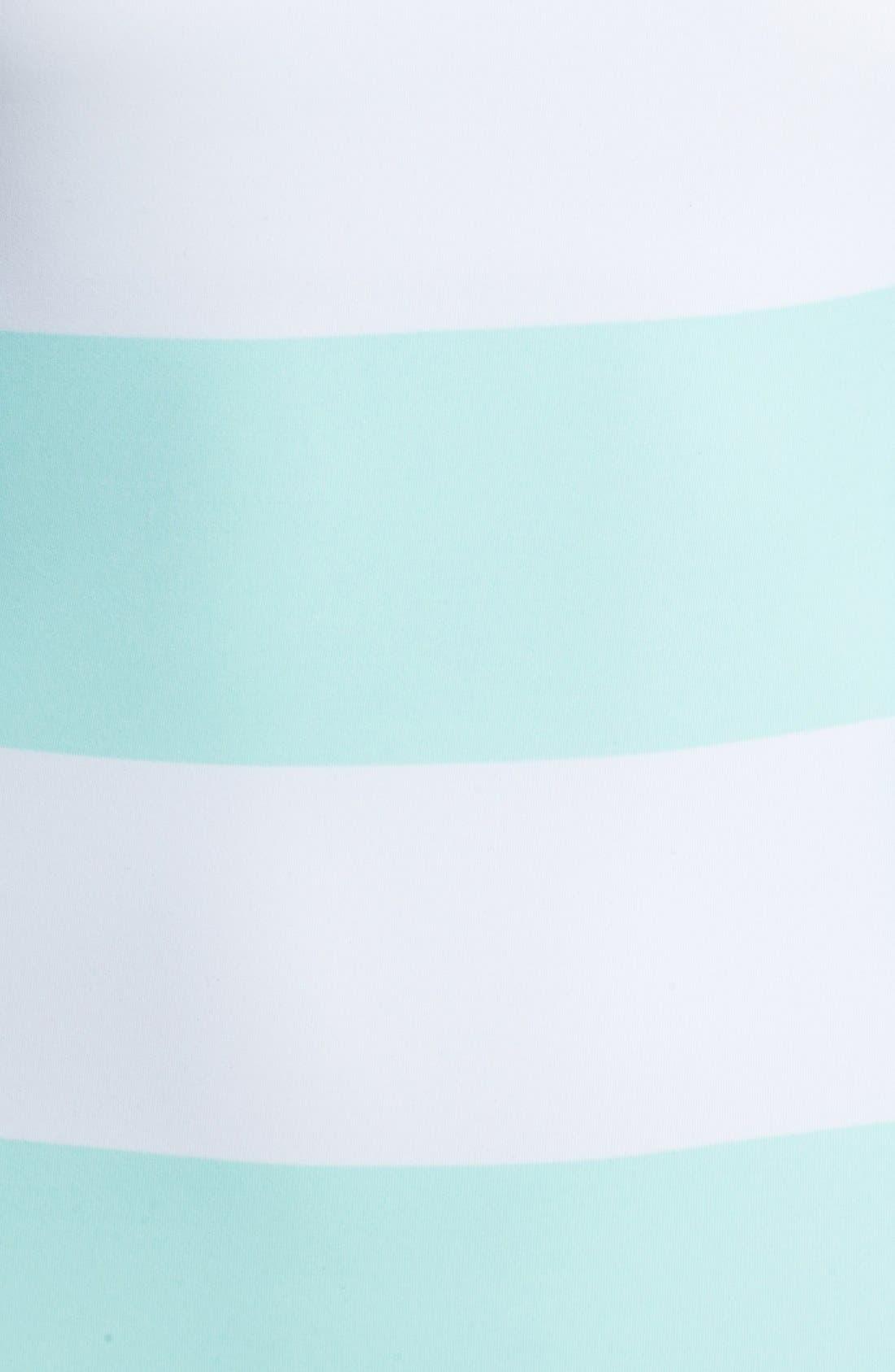 Alternate Image 3  - DKNY 'Lorimer' Stripe Zip One-Shoulder Maillot