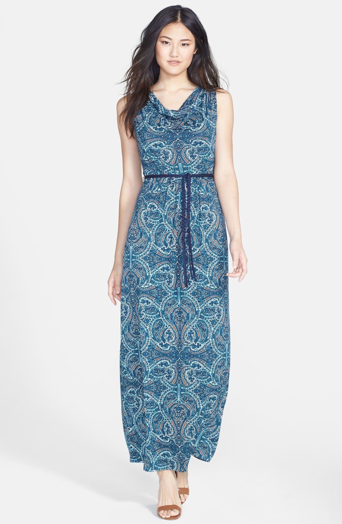 Alternate Image 1 Selected - NIC+ZOE 'Pop of Paisley' Maxi Dress (Regular & Petite)
