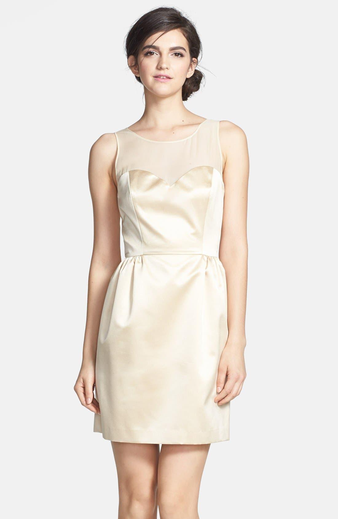 Alternate Image 1 Selected - ERIN erin fetherston 'Winona' Bow Detail Peau de Soie Sheath Dress