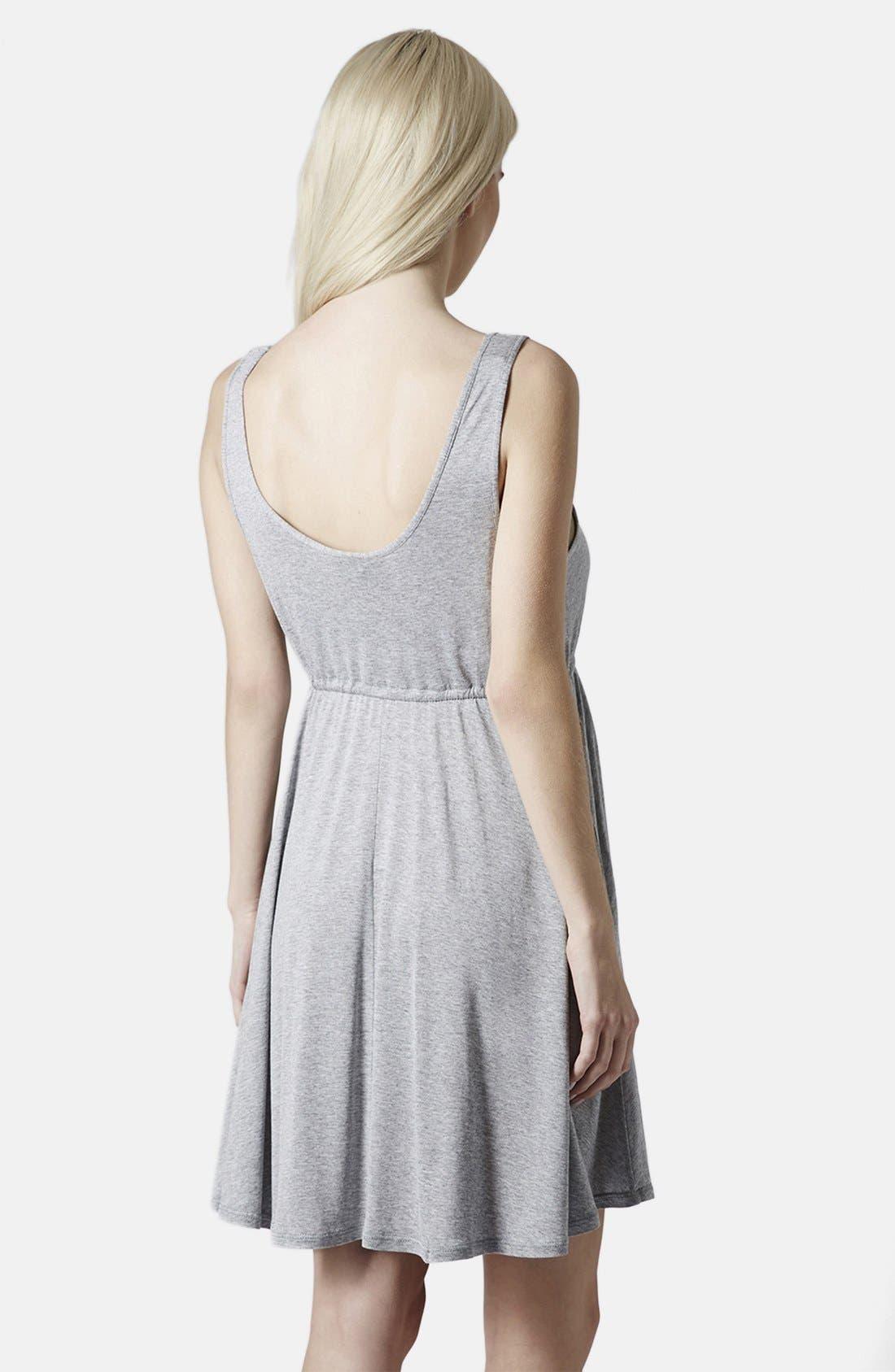 Alternate Image 2  - Topshop Drawstring Waist Jersey Maternity Dress