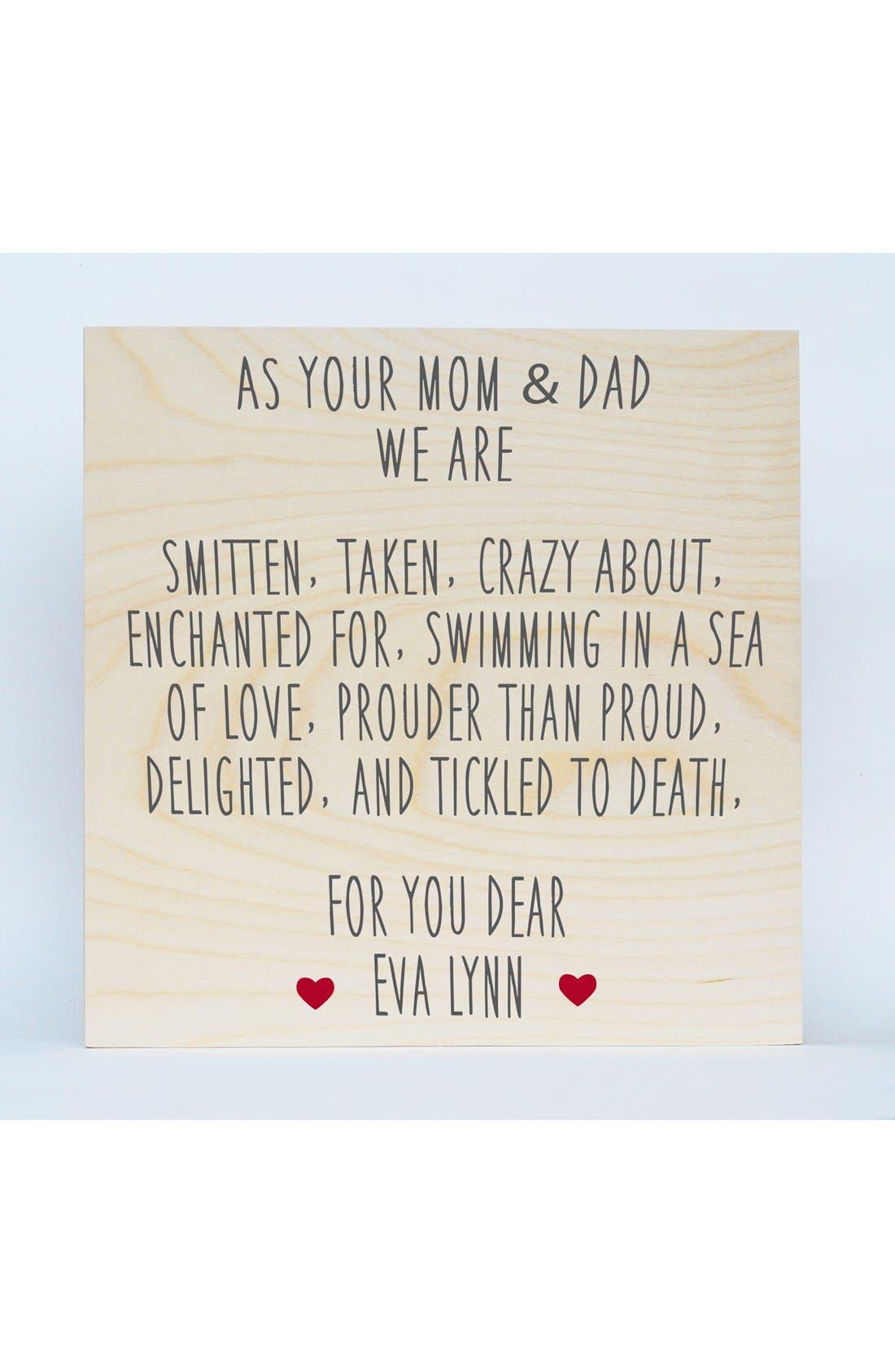 Someday Inc. 'Mom & Dad' Personalized Birchwood Wall Art