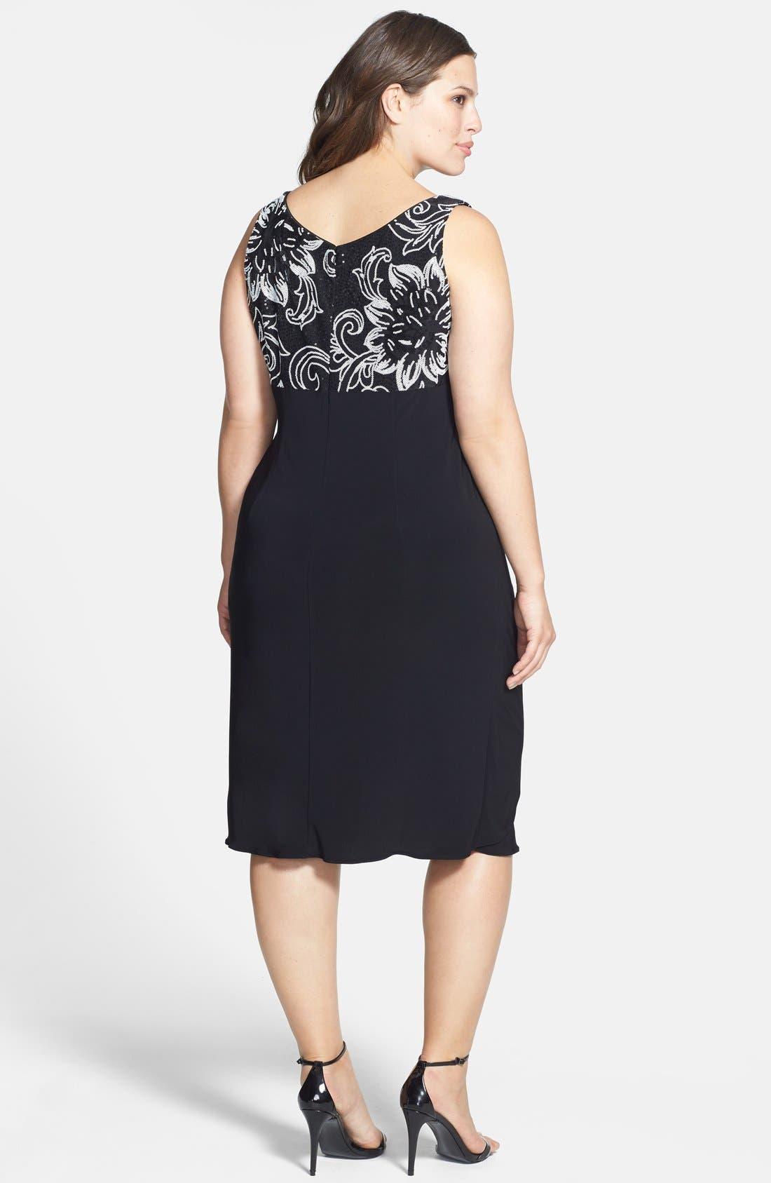 Alternate Image 3  - Alex Evenings Sequin Patterned Dress & Jacket (Plus Size)