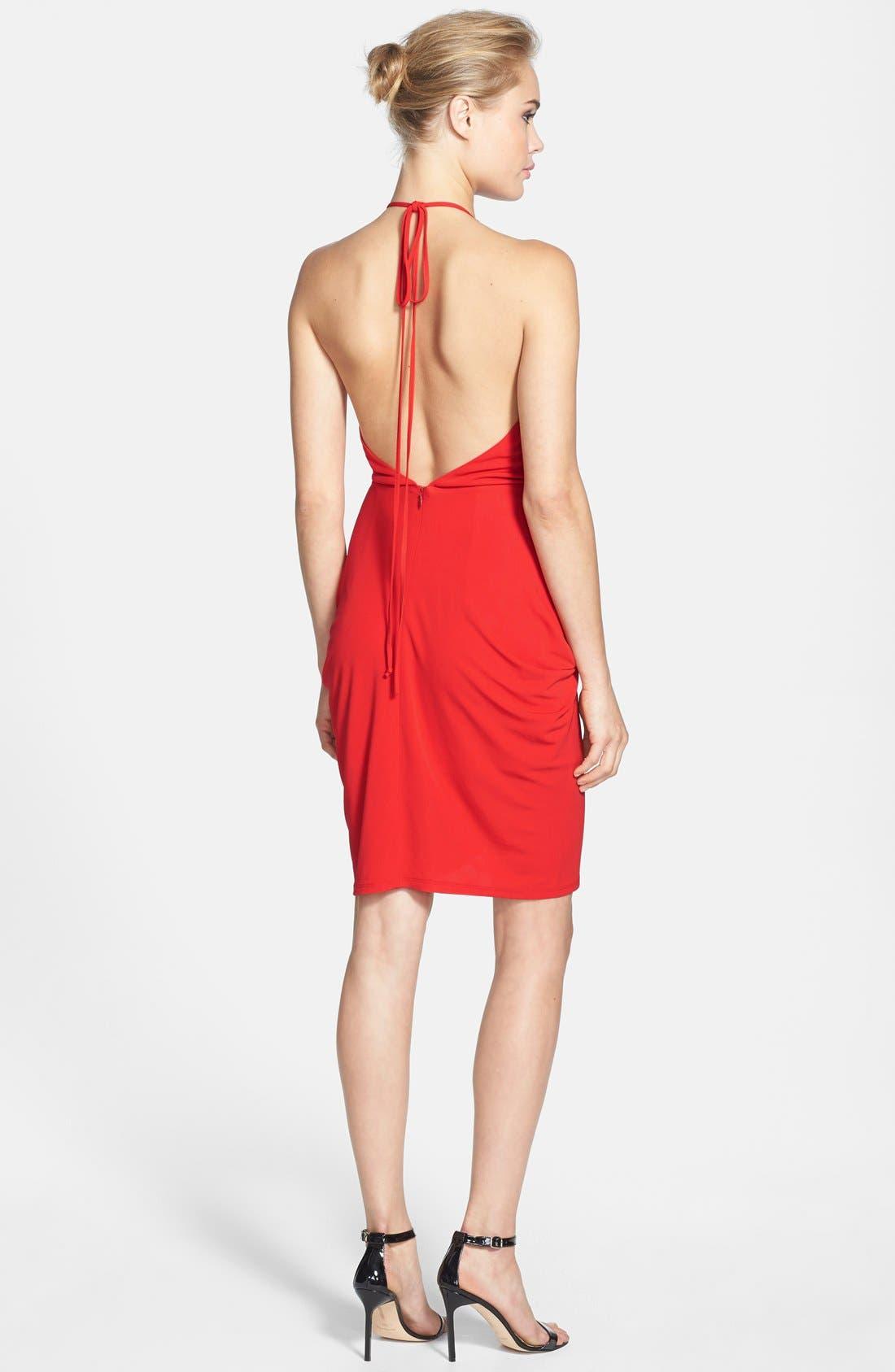 Alternate Image 2  - Alexia Admor Tulip Hem Halter Dress