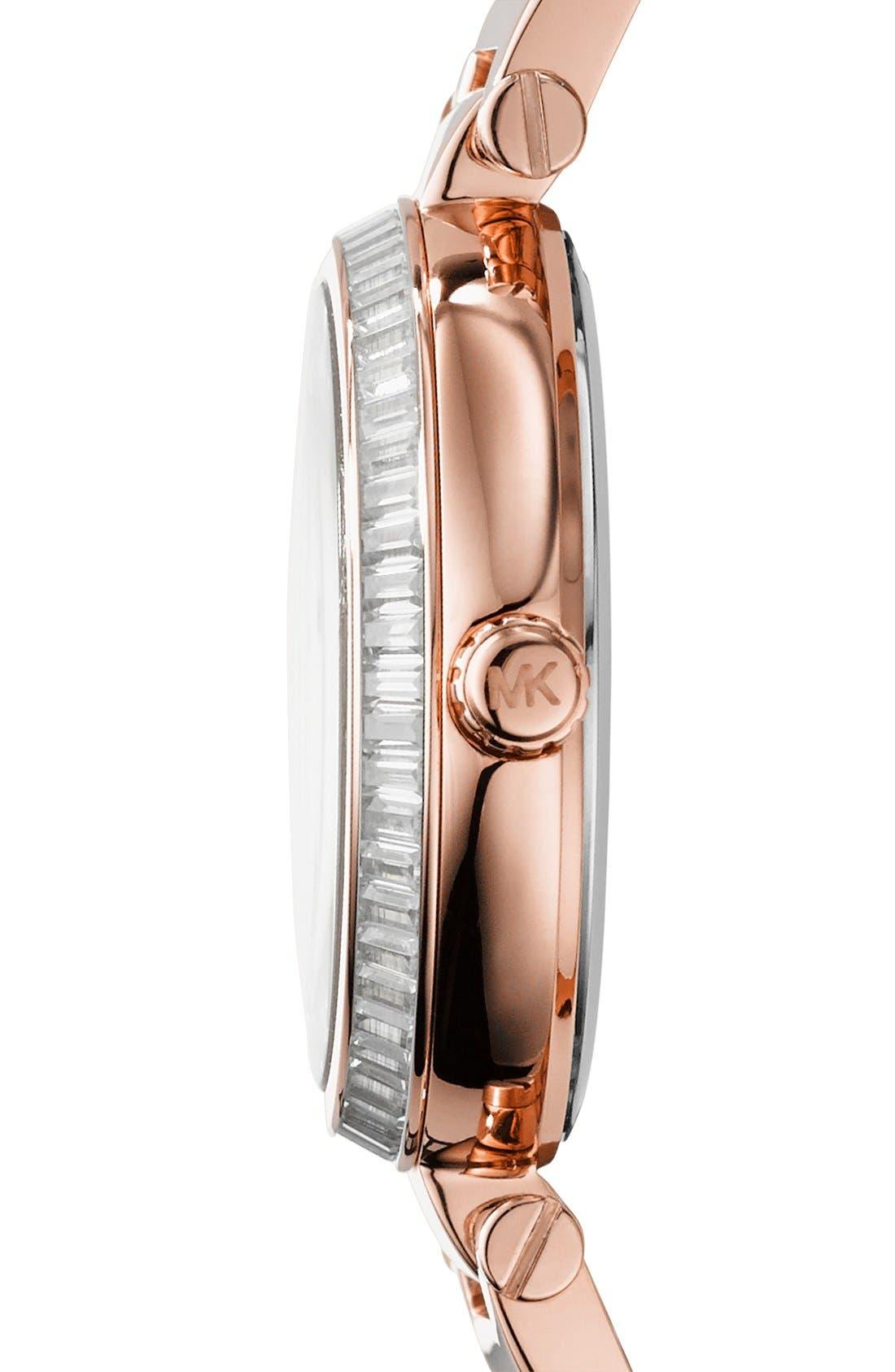 Alternate Image 3  - Michael Kors 'Skylar - Small' Crystal Bezel Bracelet Watch, 33mm
