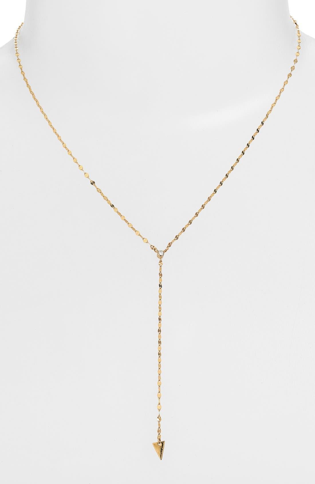 Alternate Image 1 Selected - Lana Jewelry 'Triangle' Diamond Y-Necklace
