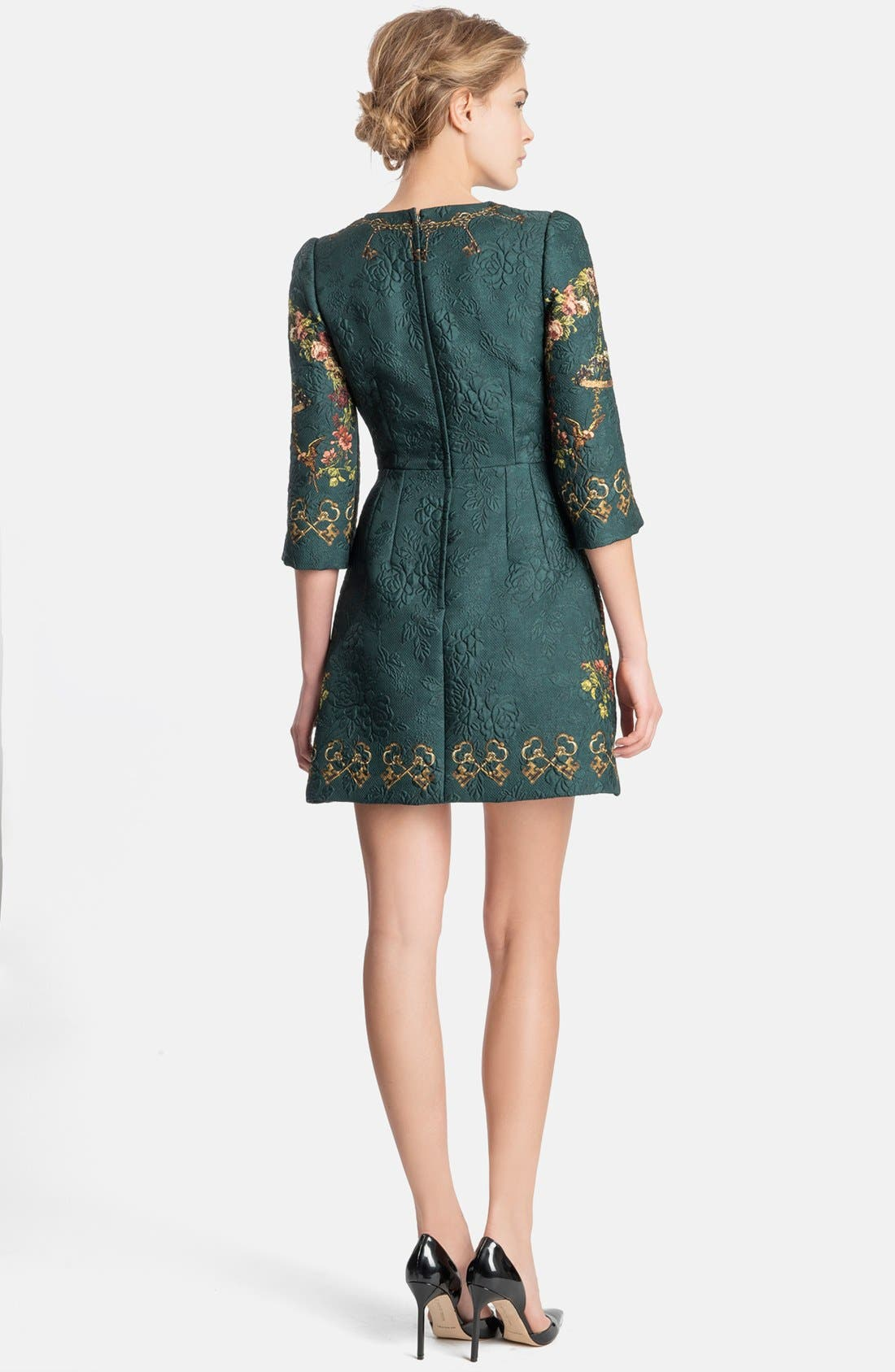 Alternate Image 2  - Dolce&Gabbana Key Print Floral Brocade Dress