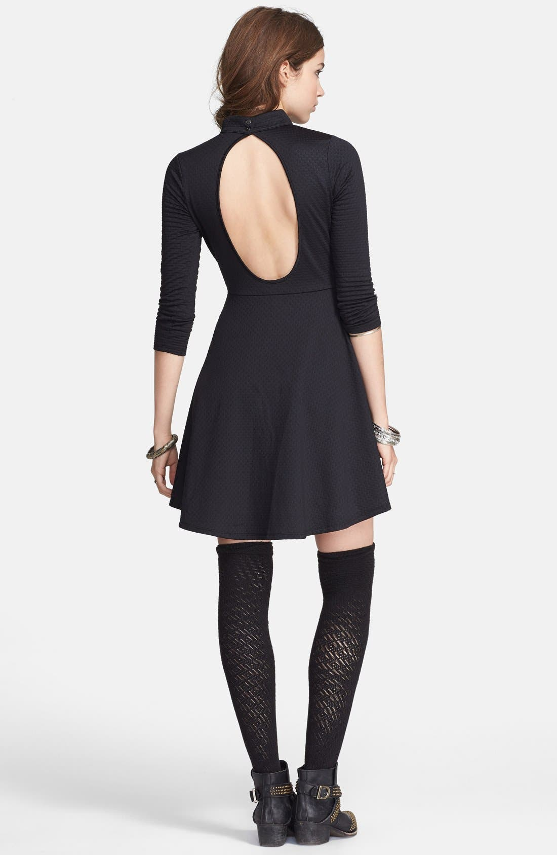 Alternate Image 2  - Free People Back Cutout Textured Fit & Flare Dress