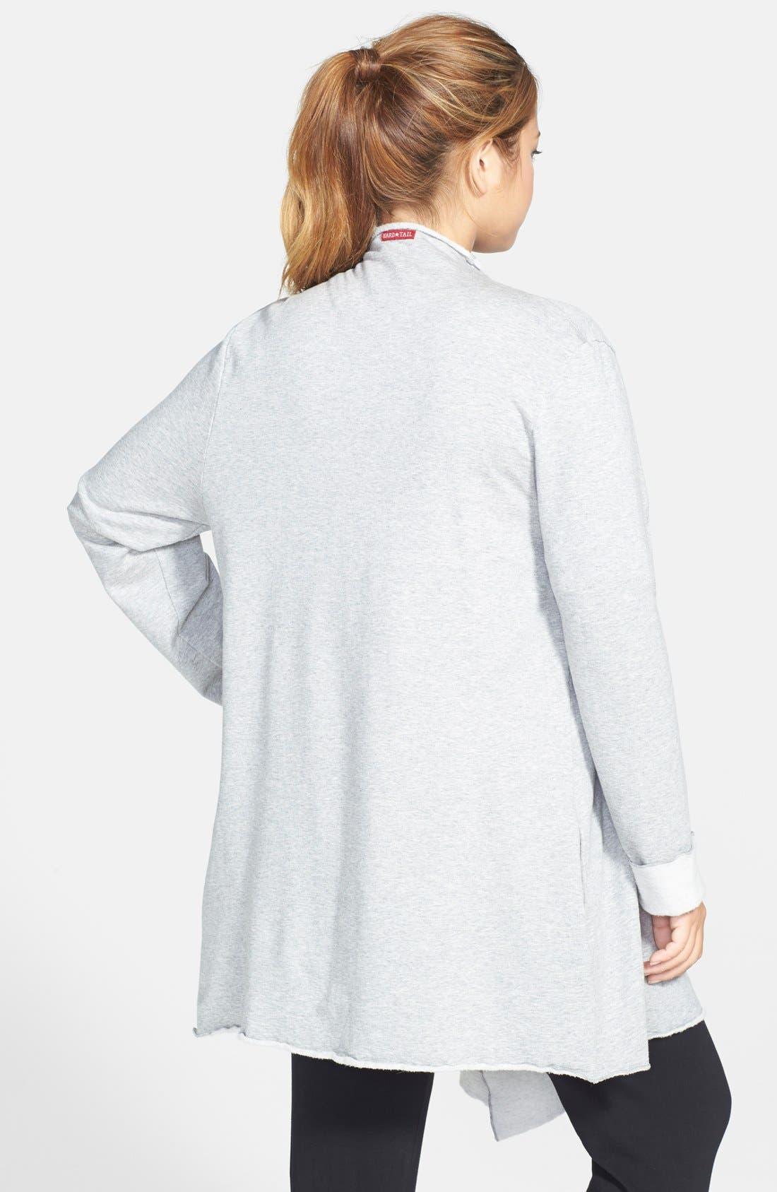 Alternate Image 2  - Hard Tail 'Matrix' Fleece Open Cardigan (Plus Size)