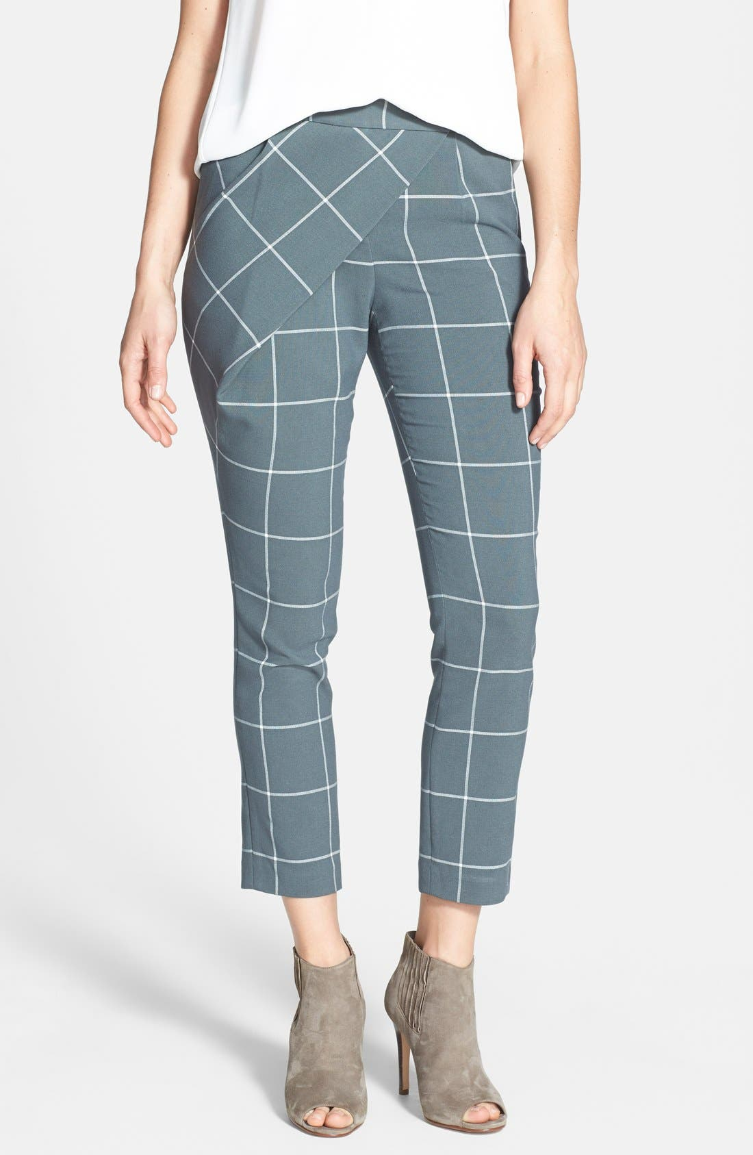 Main Image - 1.STATE Window Pane Wrap Front Crop Pants (Nordstrom Exclusive)