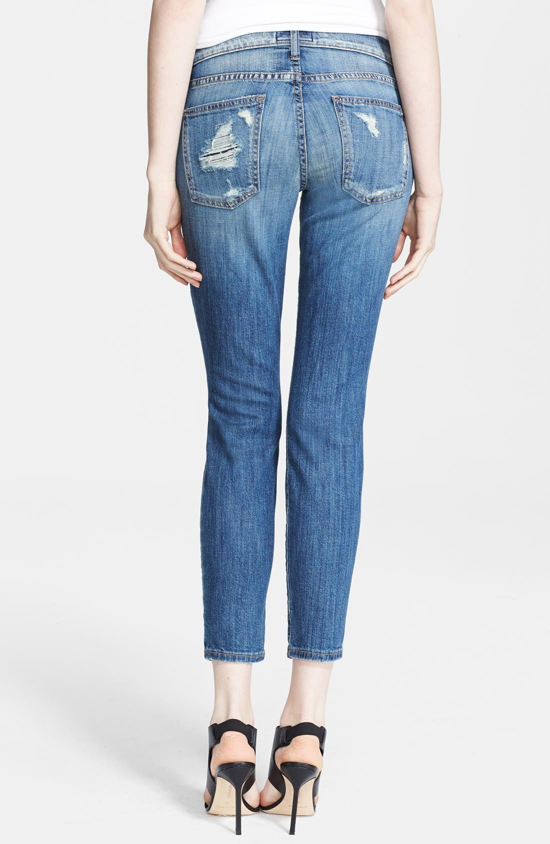 Alternate Image 2  - Current/Elliott 'The Stiletto' Skinny Jeans (Jodie Shredded)