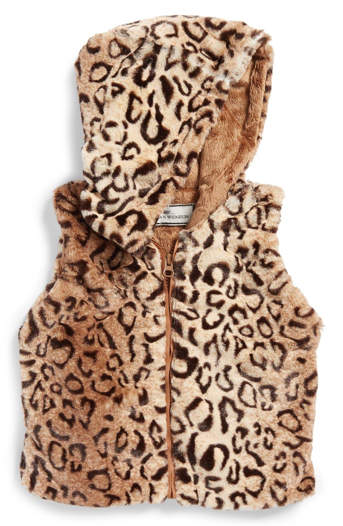 Alternate Image 1 Selected - Widgeon Hooded Faux Fur Vest (Toddler Girls, Little Girls & Big Girls) (Online Only)