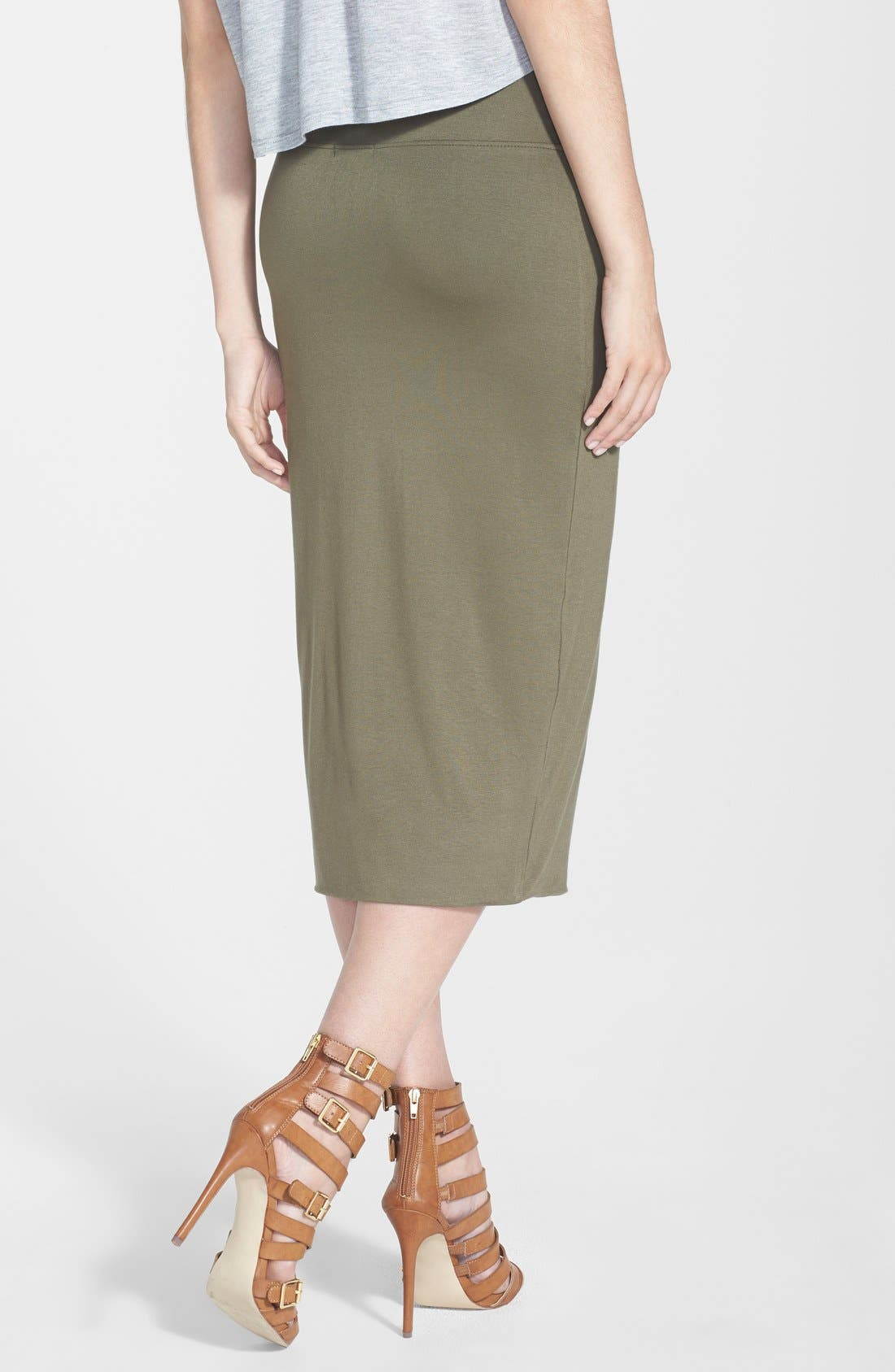 Alternate Image 2  - Leith High Waist Tube Midi Skirt