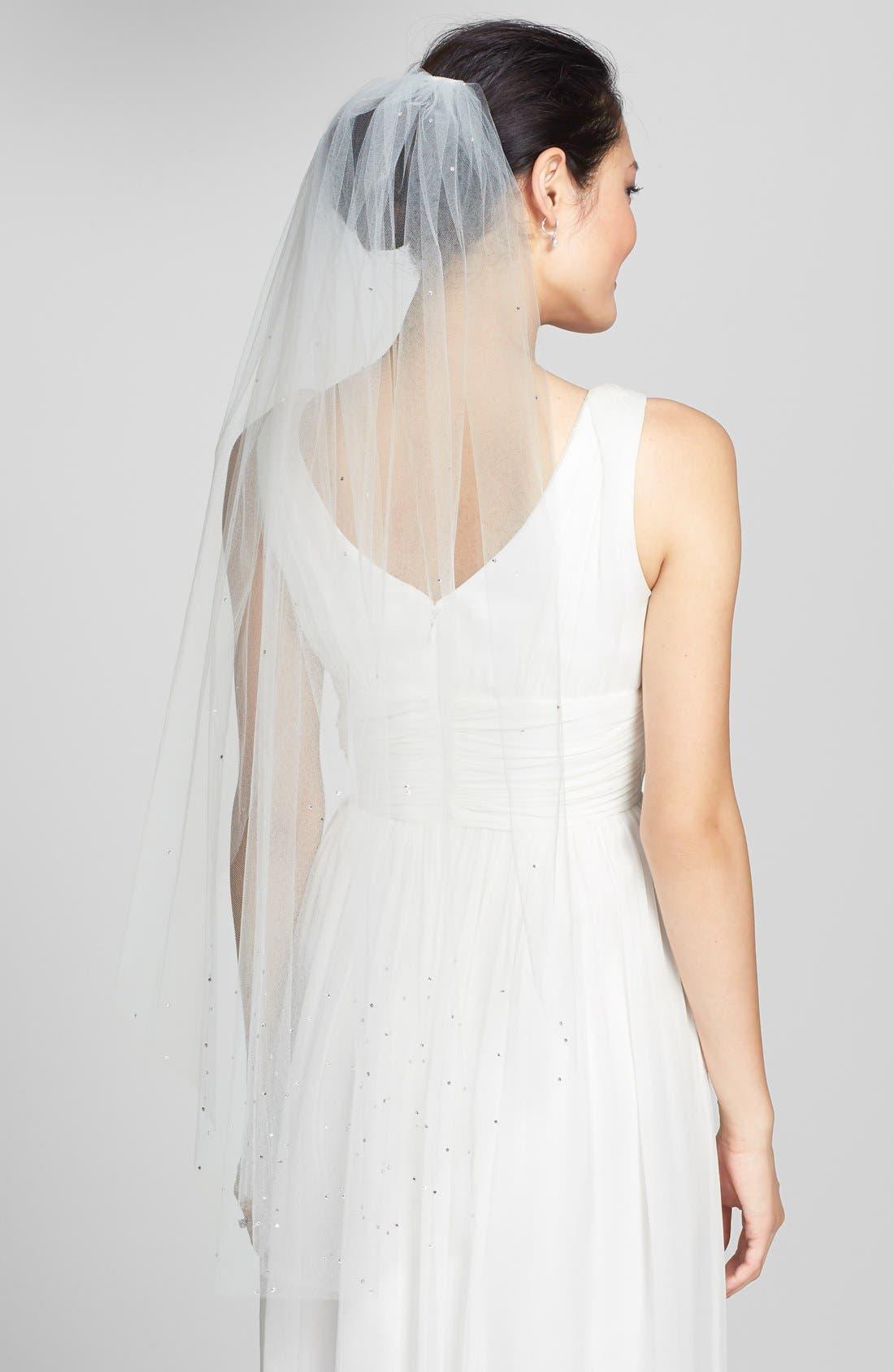 Main Image - Veil Trends 'Amethyst' Single Layer Fingertip Veil
