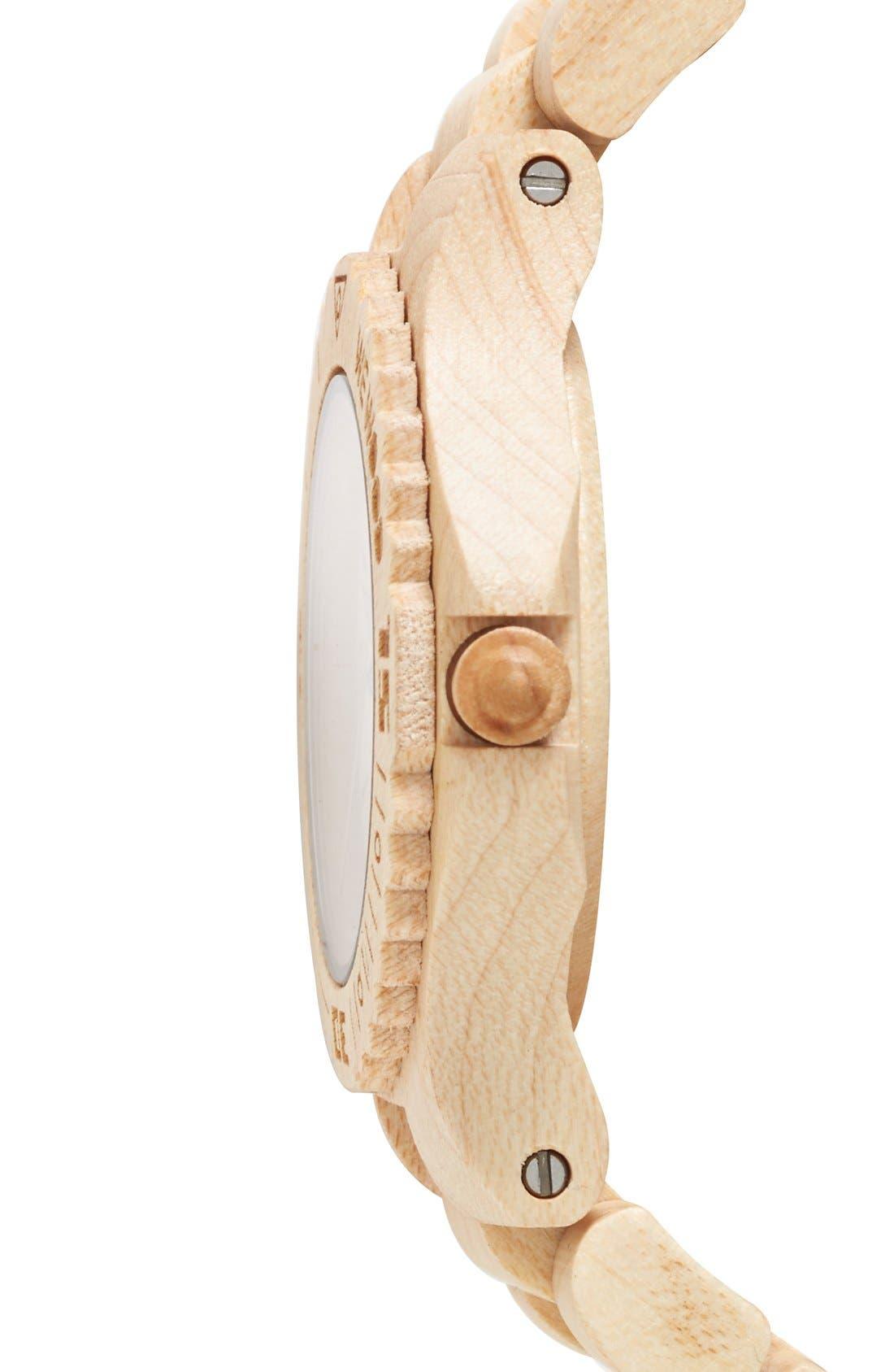 Alternate Image 3  - WeWOOD 'Kale' Wood Bracelet Watch, 42mm