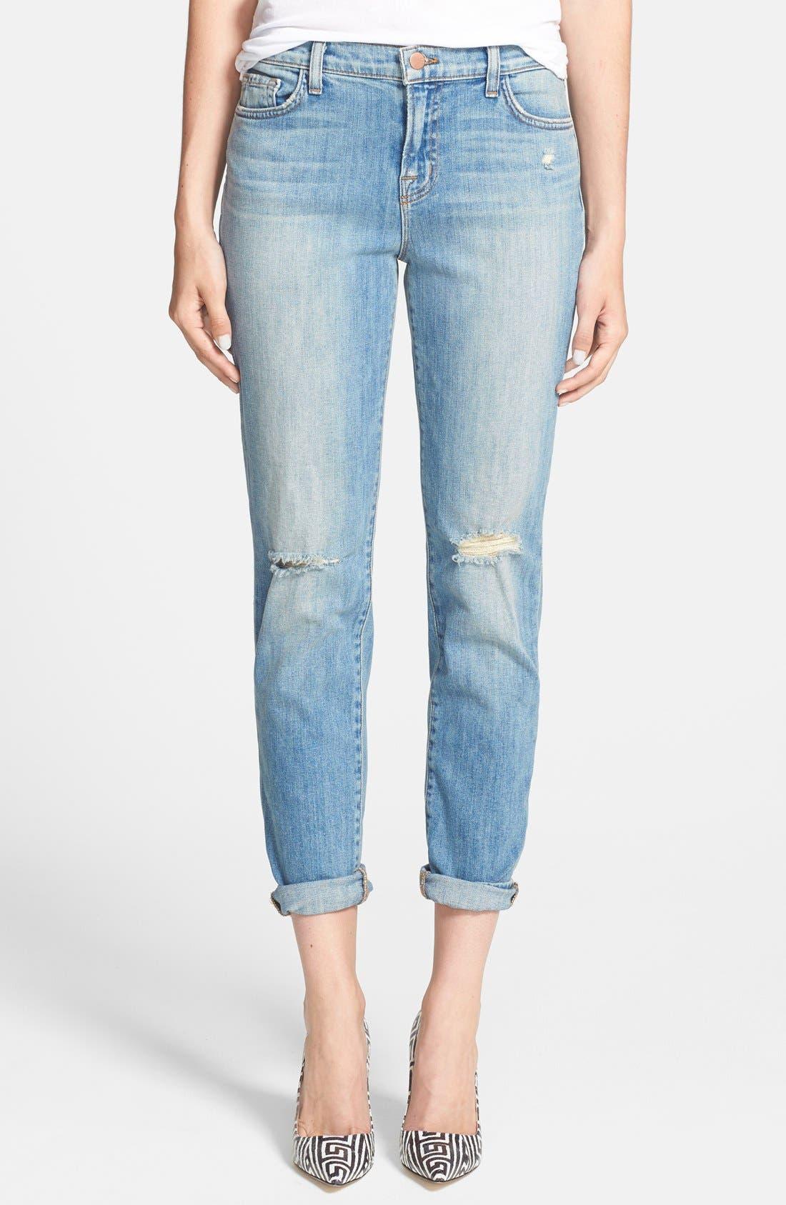 Main Image - J Brand 'Jake' Skinny Boyfriend Jeans (Landslide)