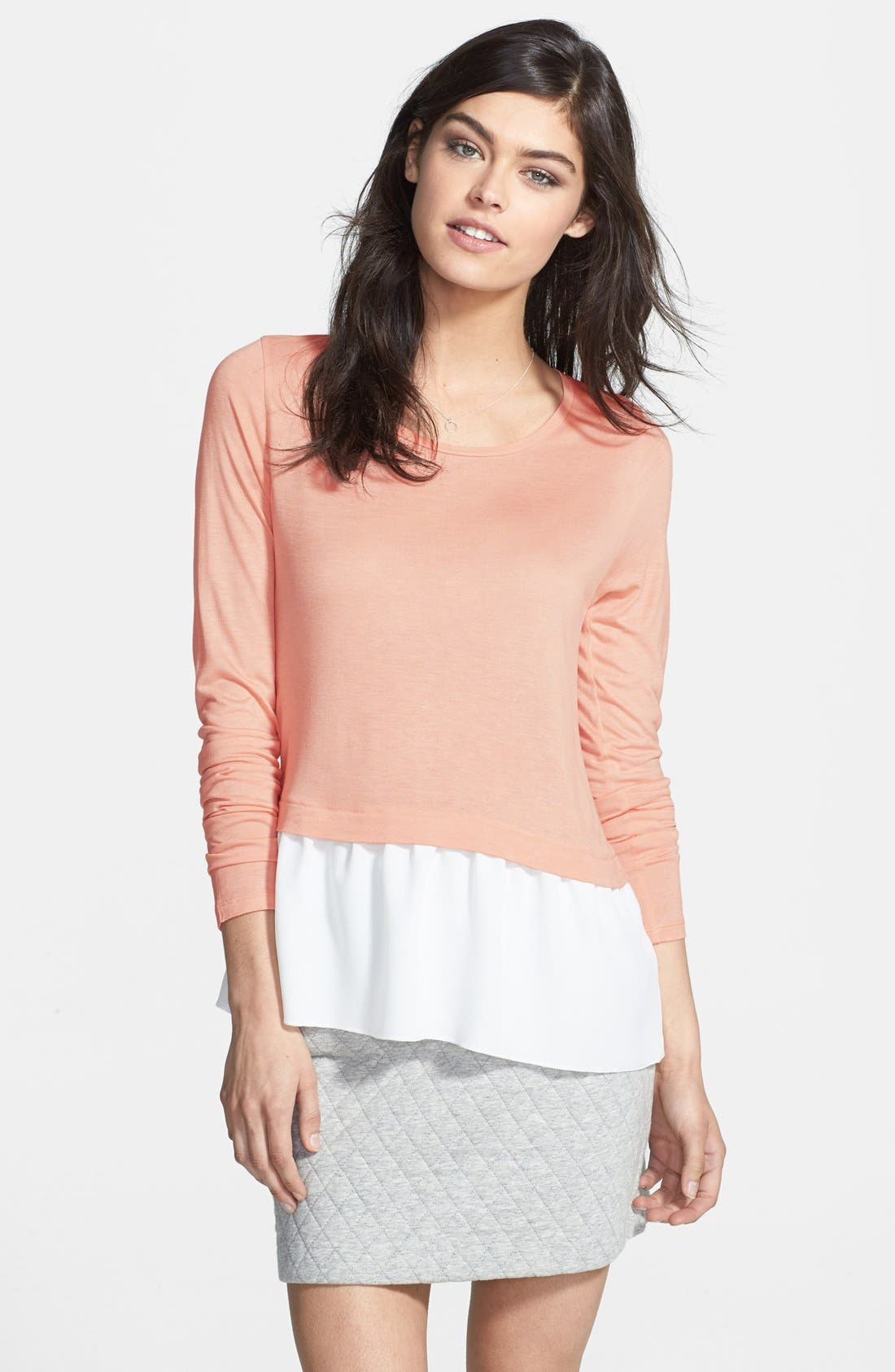 Alternate Image 1 Selected - Hinge® Chiffon Hem Layered Top