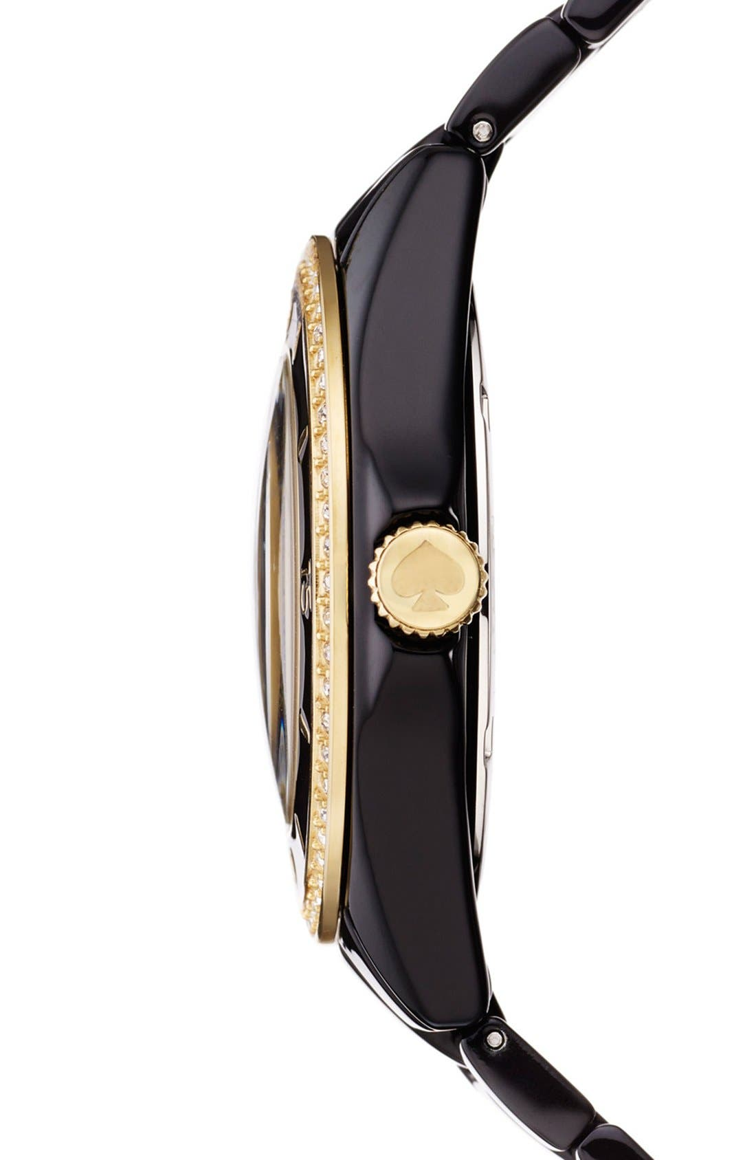 Alternate Image 2  - kate spade new york 'seaport grand' crystal enamel bracelet watch, 38mm