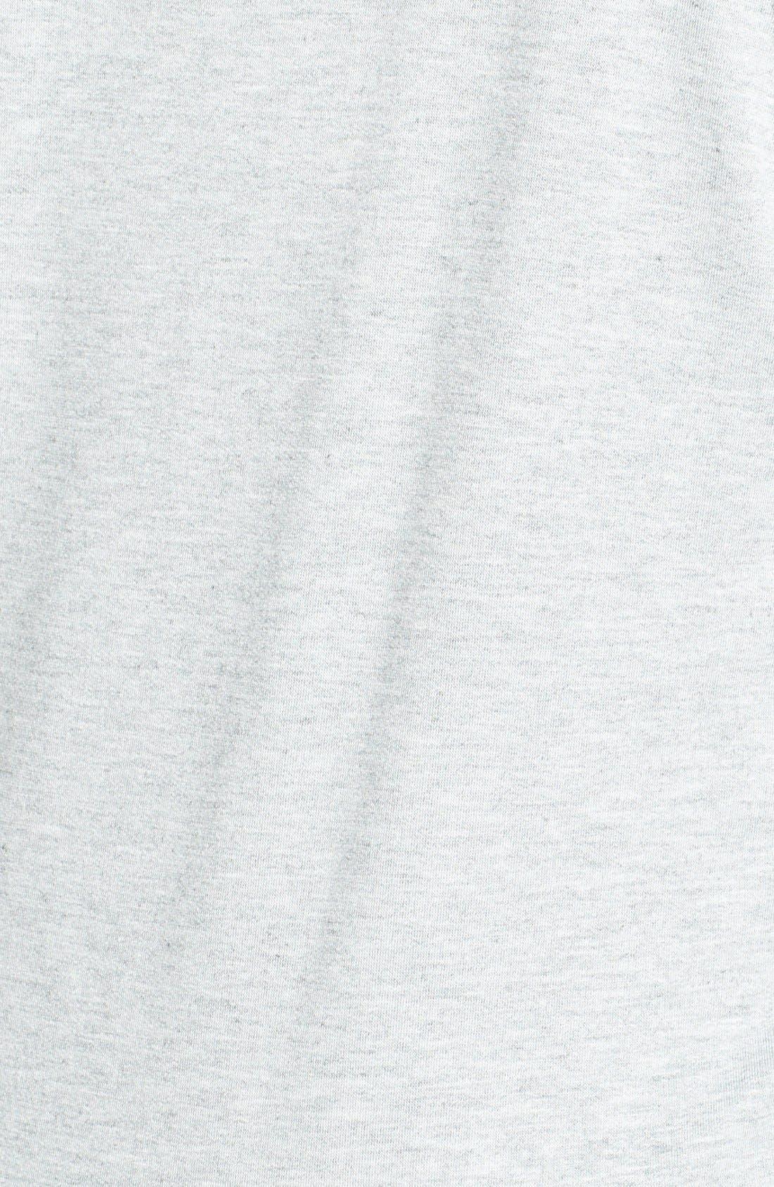 Alternate Image 3  - Pink Lotus Stripe Trim Dolman Sleeve Sweatshirt (Plus Size)