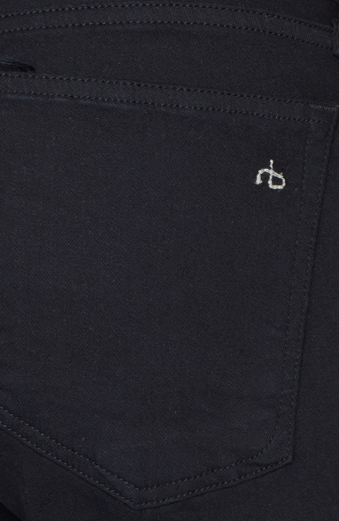 'The Dre' Skinny Jeans,                             Alternate thumbnail 3, color,                             Aged Black