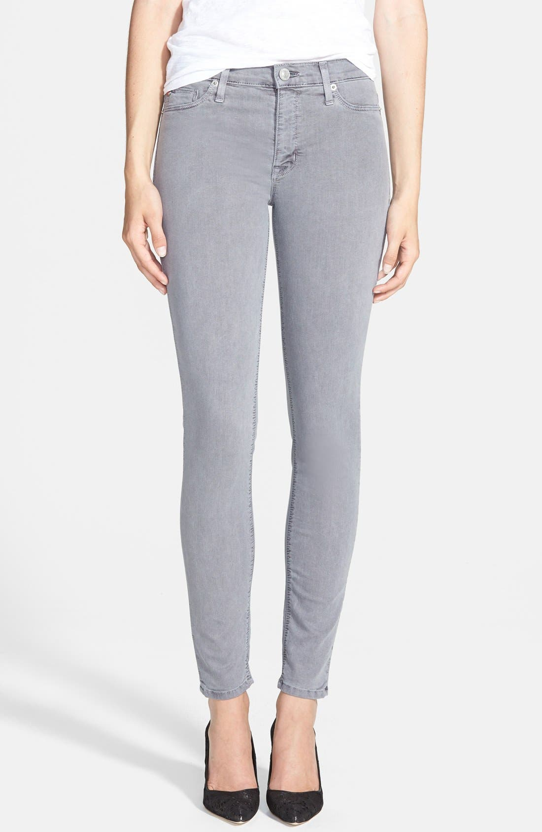 Alternate Image 1 Selected - Hudson Jeans 'Nico' Skinny Overdyed Jeans (Grey Wash)