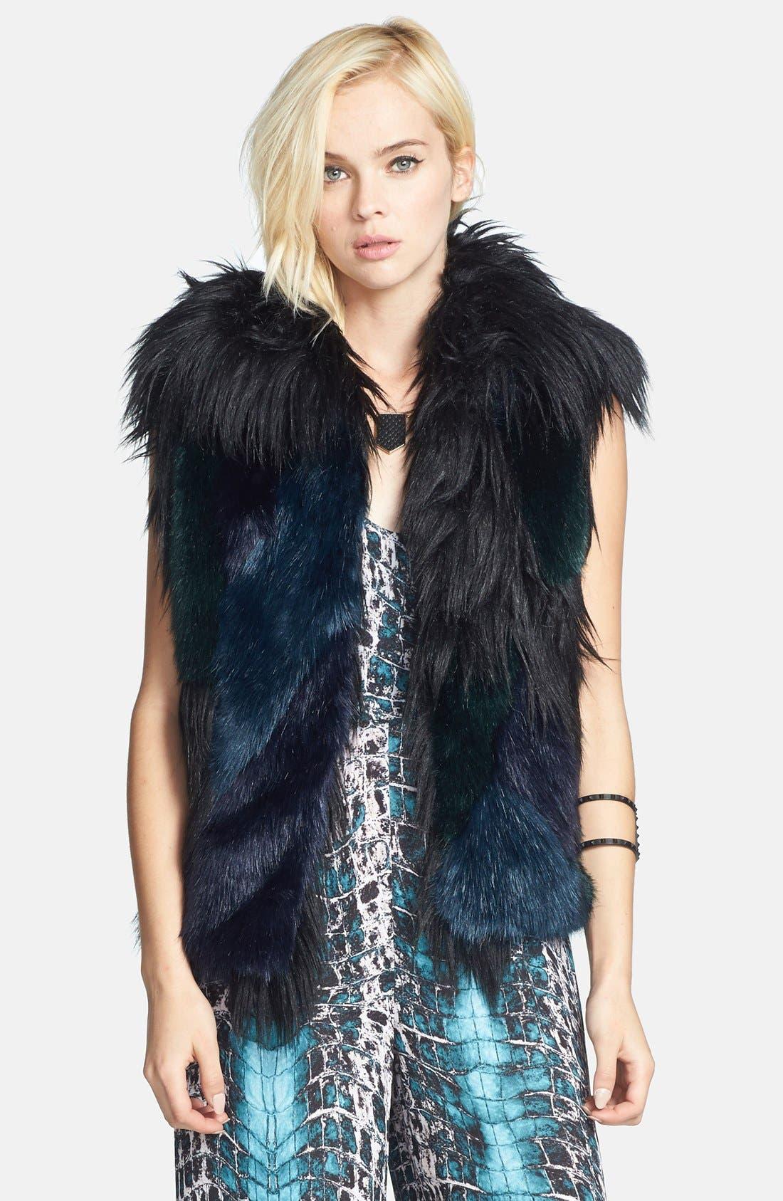 Alternate Image 1 Selected - BLANKNYC Faux Fur Vest