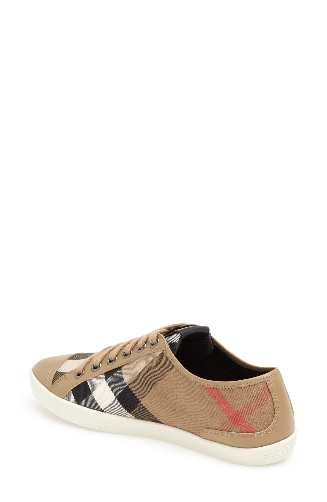 Alternate Image 2  - Burberry Check Print Sneaker (Women)