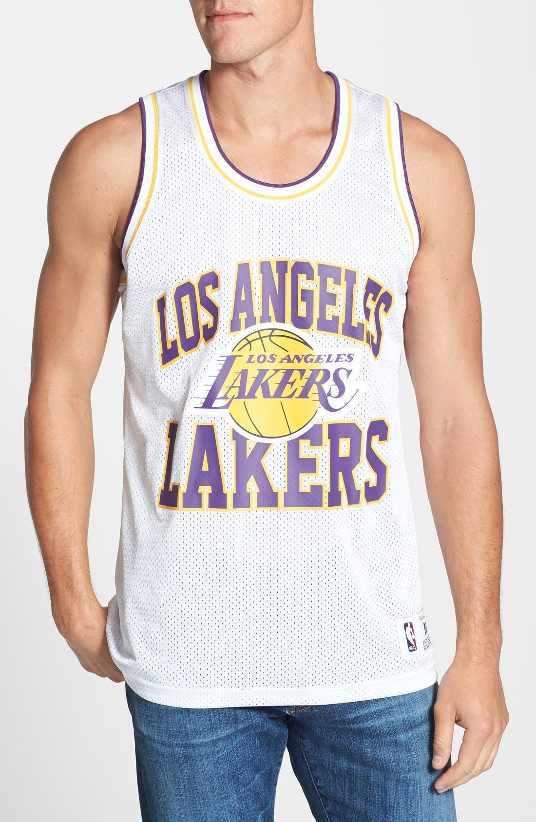 Alternate Image 1 Selected - Mitchell & Ness 'Los Angeles Lakers - Home Stand' Tank Top