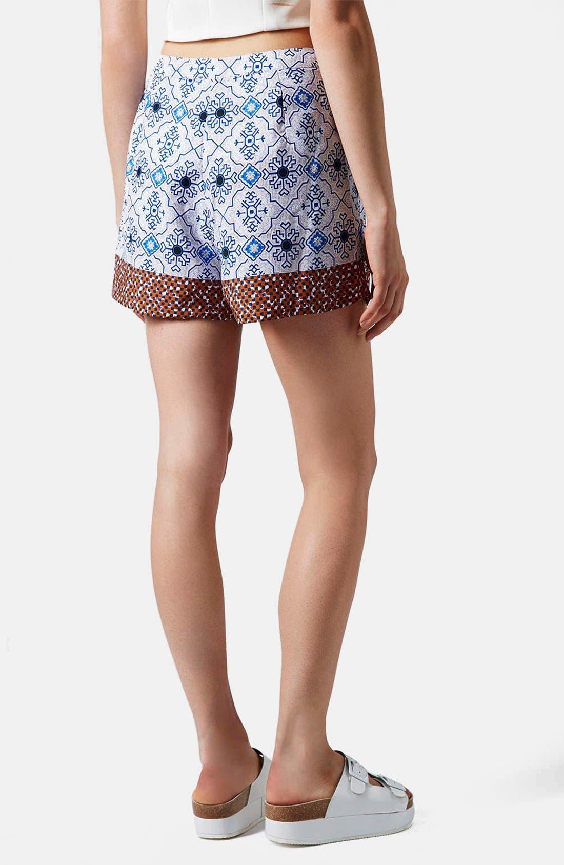 Alternate Image 2  - Topshop Beaded Tile Shorts