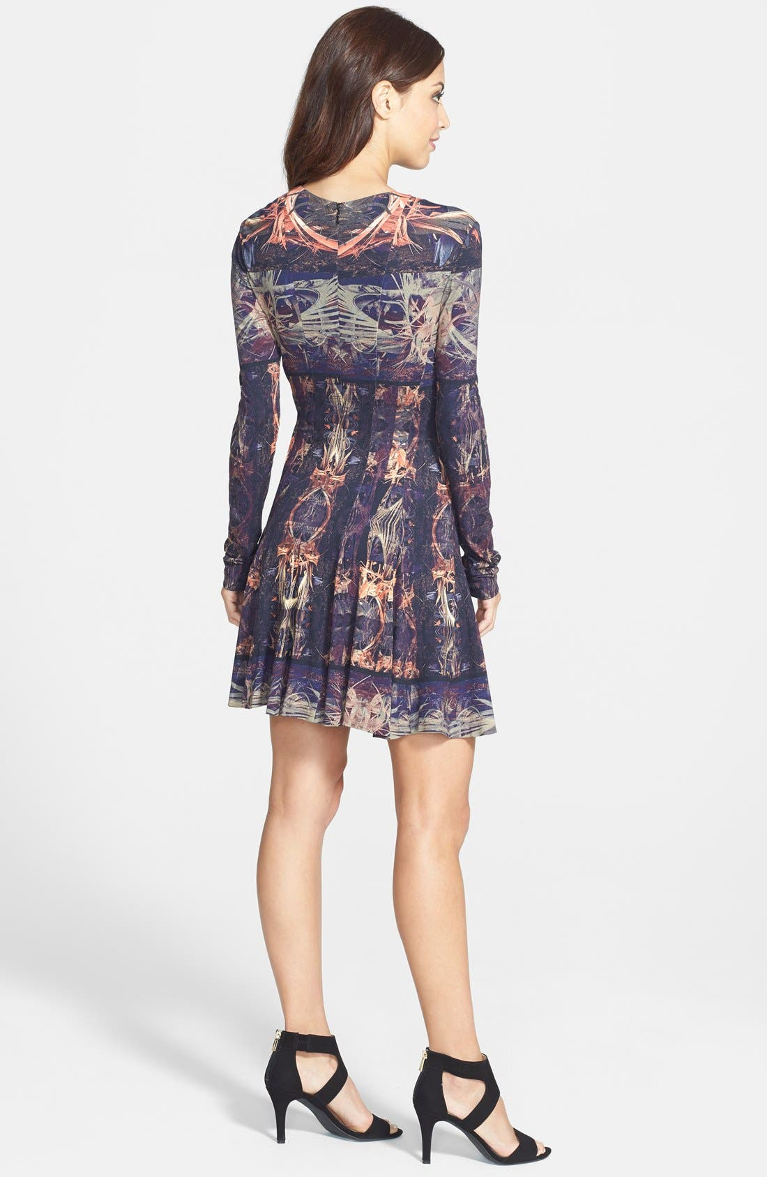 Alternate Image 2  - Nicole Miller 'Amber Force Field' Jersey Fit & Flare Dress
