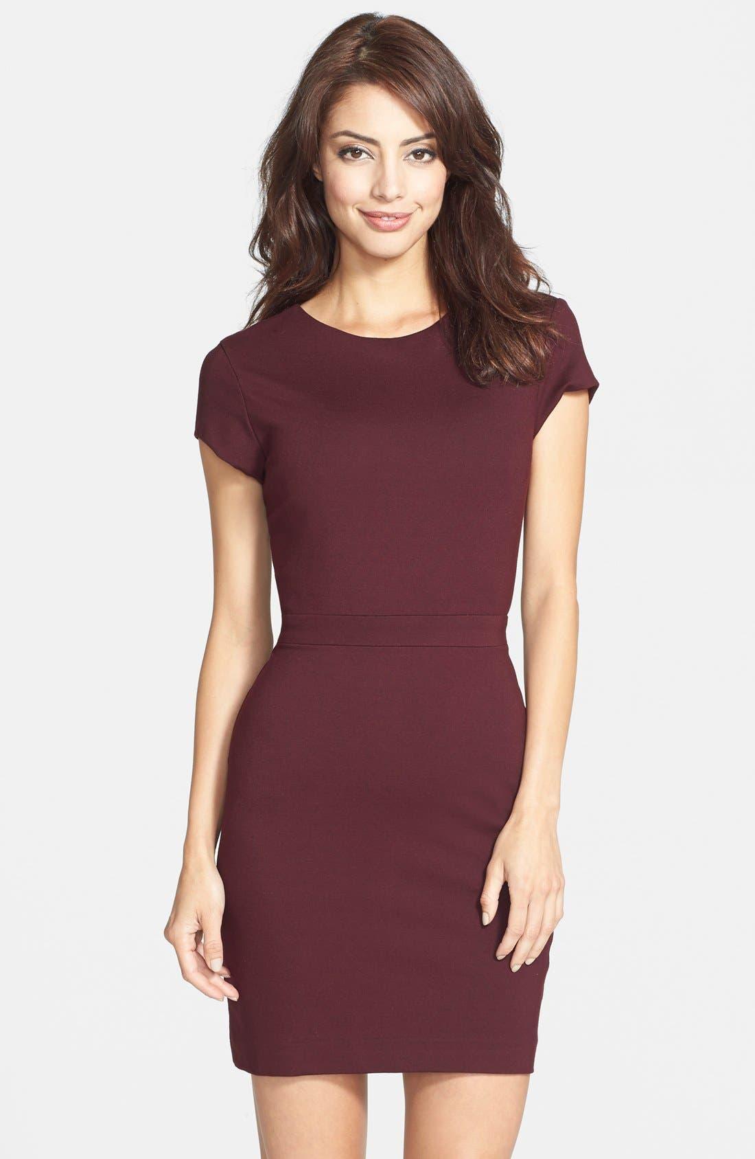 Alternate Image 1 Selected - Nicole Miller Open Back Ponte Body-Con Dress