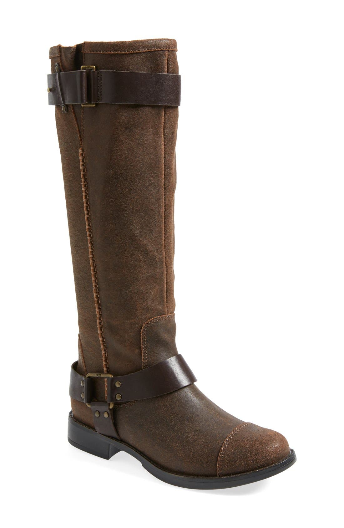 Alternate Image 1 Selected - UGG® Australia 'Dree' Suede Harness Boot (Women)