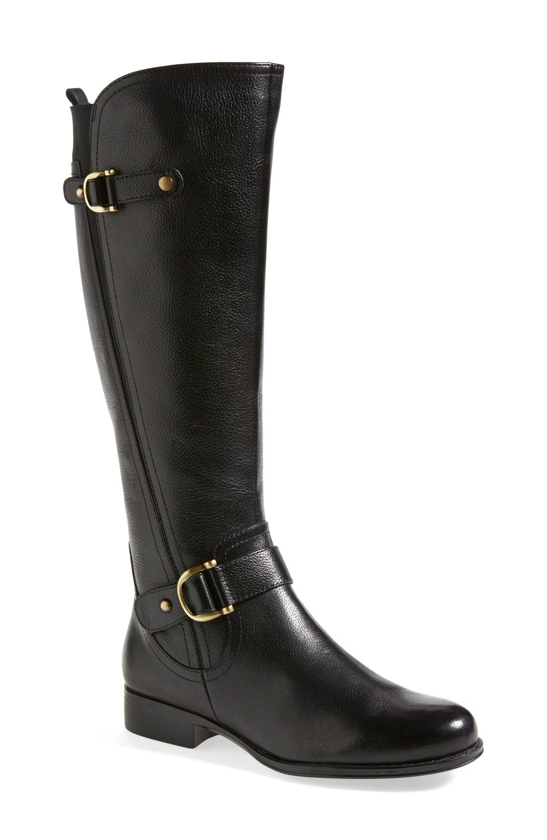 Main Image - Naturalizer 'Jersey' Leather Riding Boot (Women)