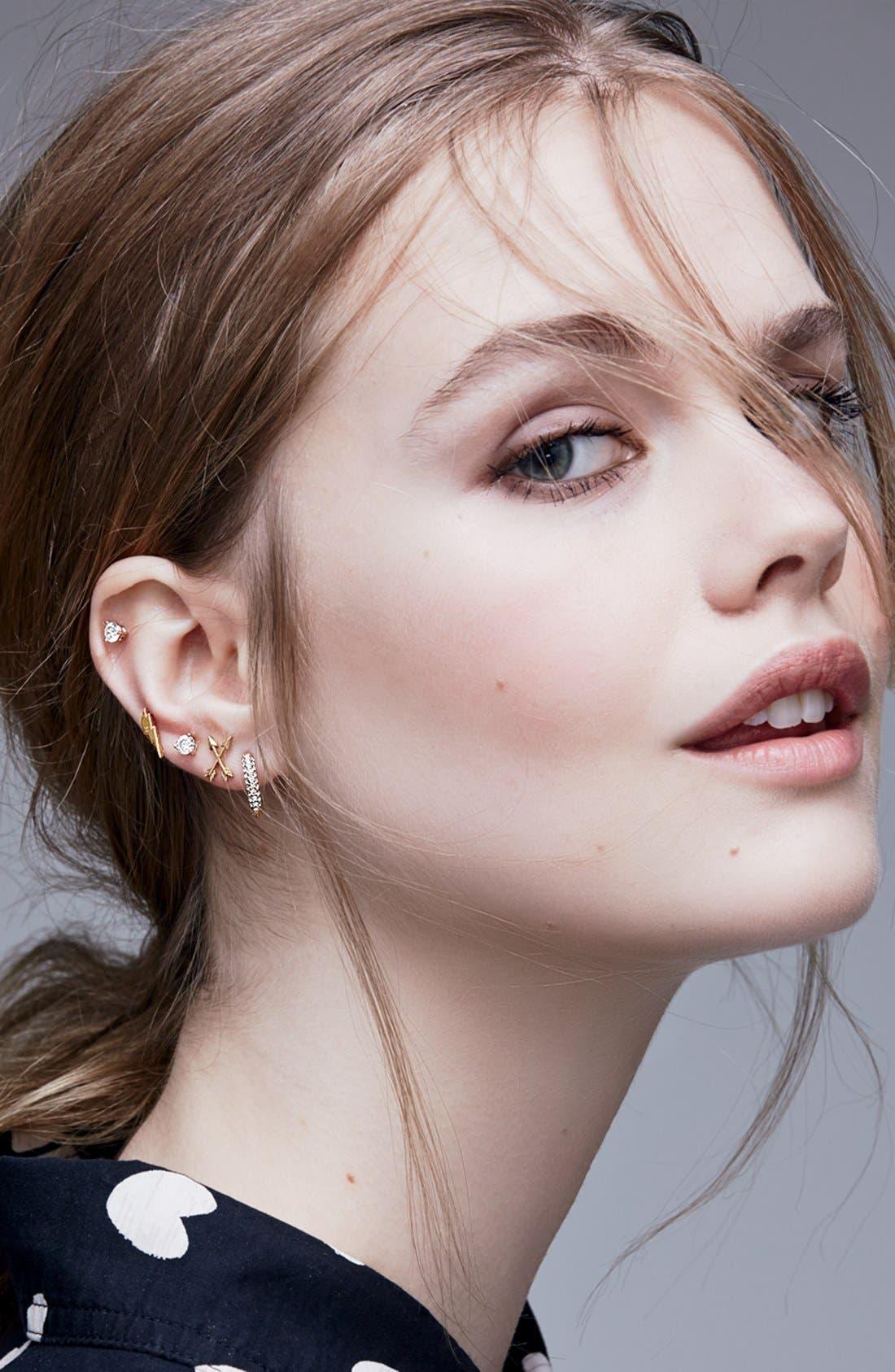 Alternate Image 3  - Dogeared Arrow Stud Earrings
