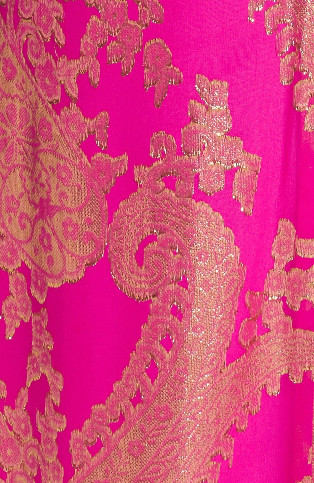 Alternate Image 3  - Lilly Pulitzer® 'Franconia' Beaded Neck Metallic Jacquard Maxi Dress