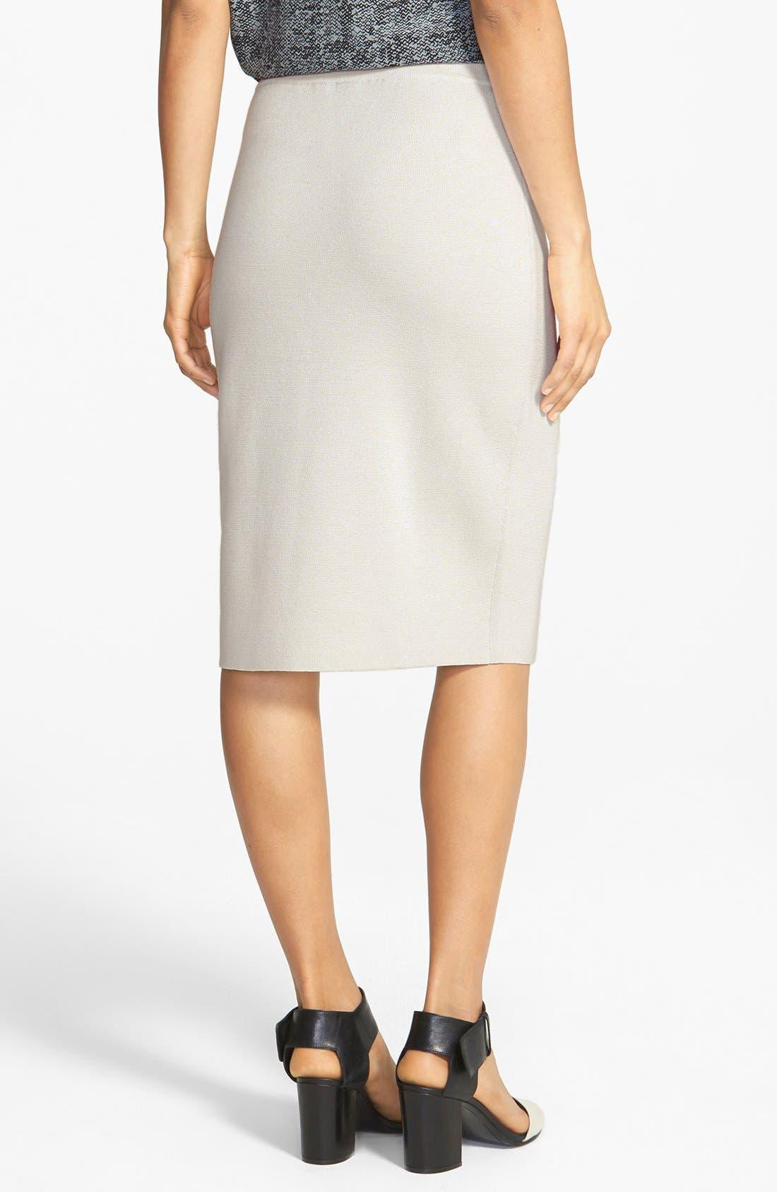 Alternate Image 2  - Eileen Fisher Silk & Cotton Straight Skirt
