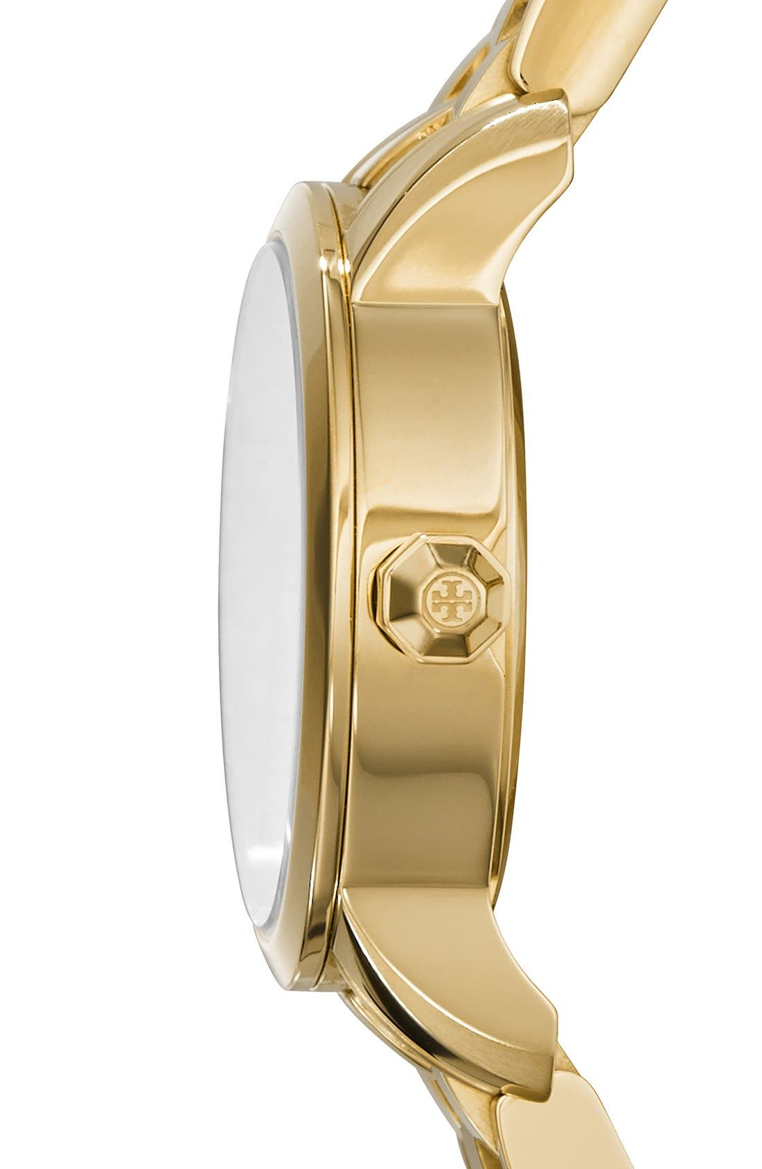 Alternate Image 4  - Tory Burch 'Tory' Small Round Bracelet Watch, 28mm