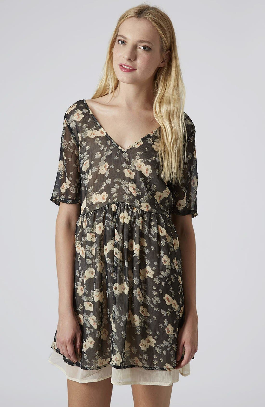 Alternate Image 1 Selected - Topshop Reclaim To Wear Double Layer V-Neck Dress