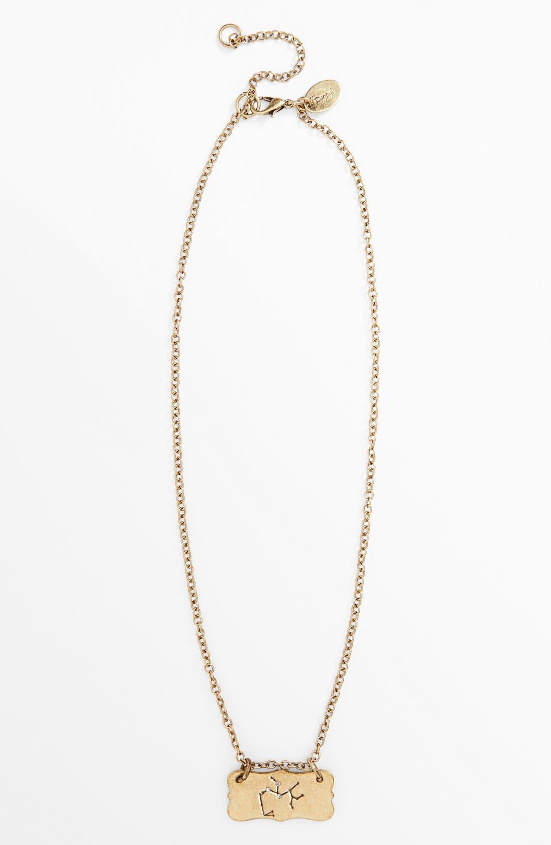 Alternate Image 5  - Berry 'Zodiac - Sagittarius' Reversible Pendant Necklace (Goldtone)