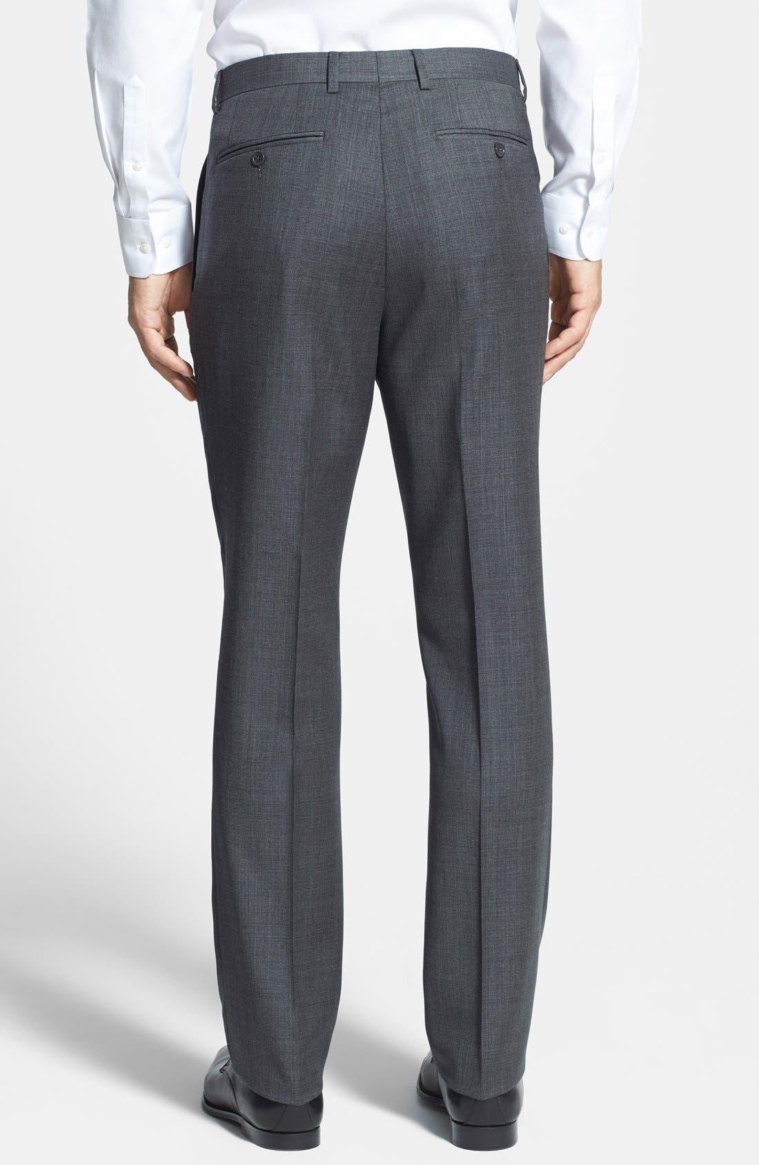 Alternate Image 3  - Santorelli Flat Front Wool Trousers