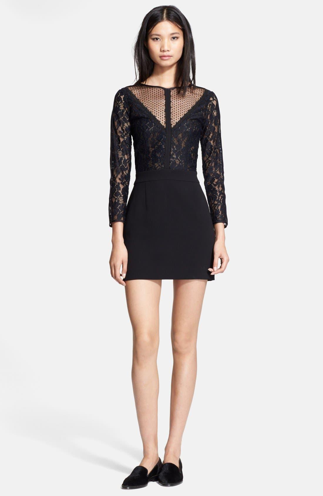 Main Image - The Kooples Lace & Crepe Sheath Dress