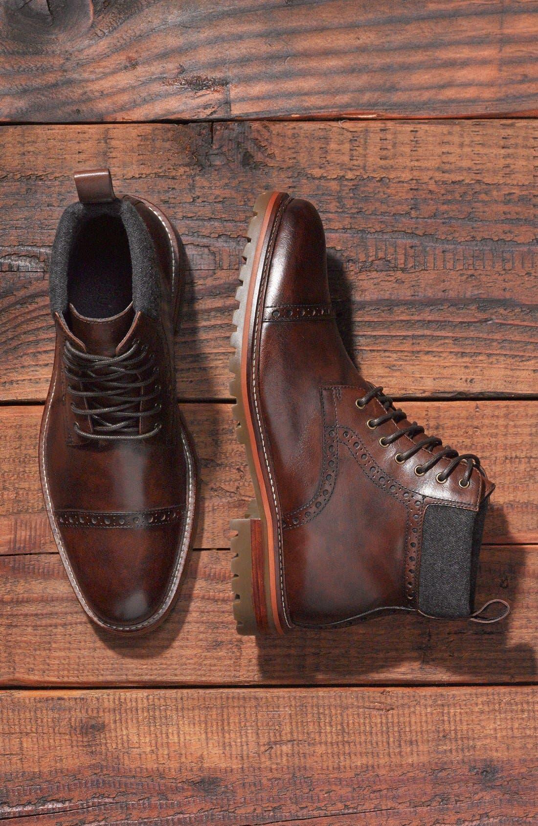 Alternate Image 2  - J&M 1850 'Karnes' Brogue Cap Toe Boot (Men)
