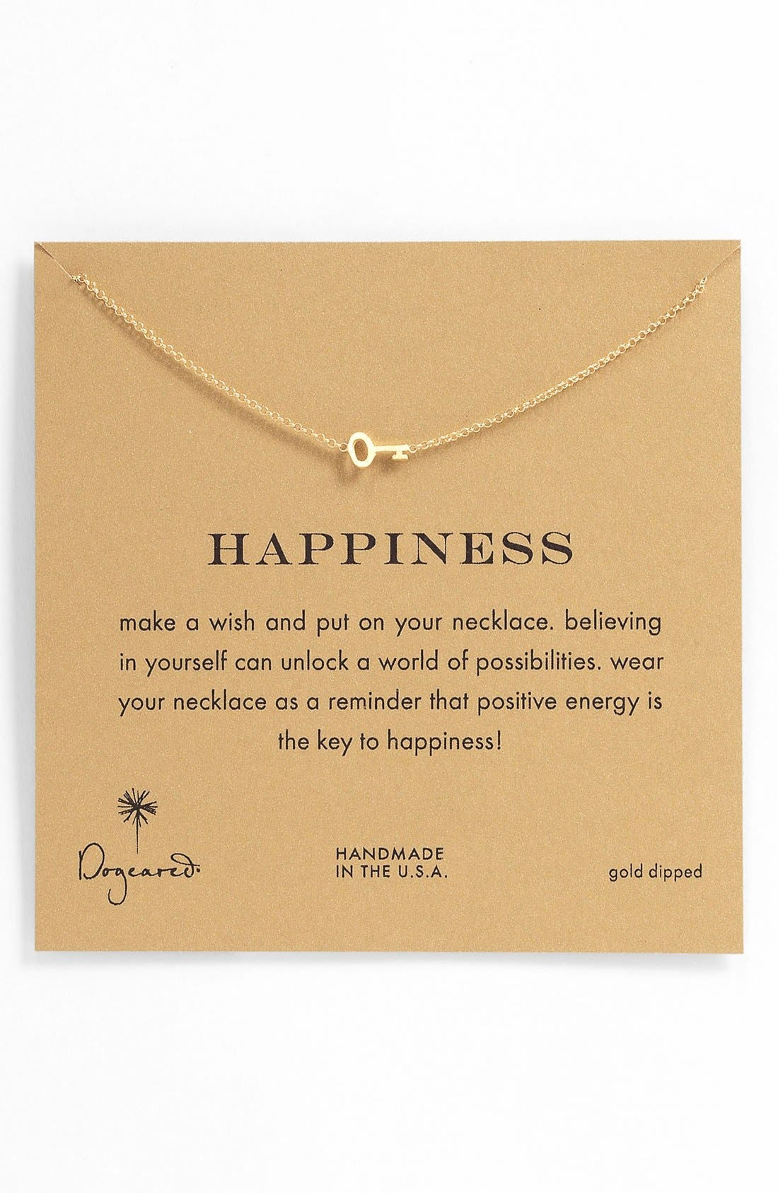 Alternate Image 1 Selected - Dogeared 'Whispers - Happiness' Boxed Pendant Necklace