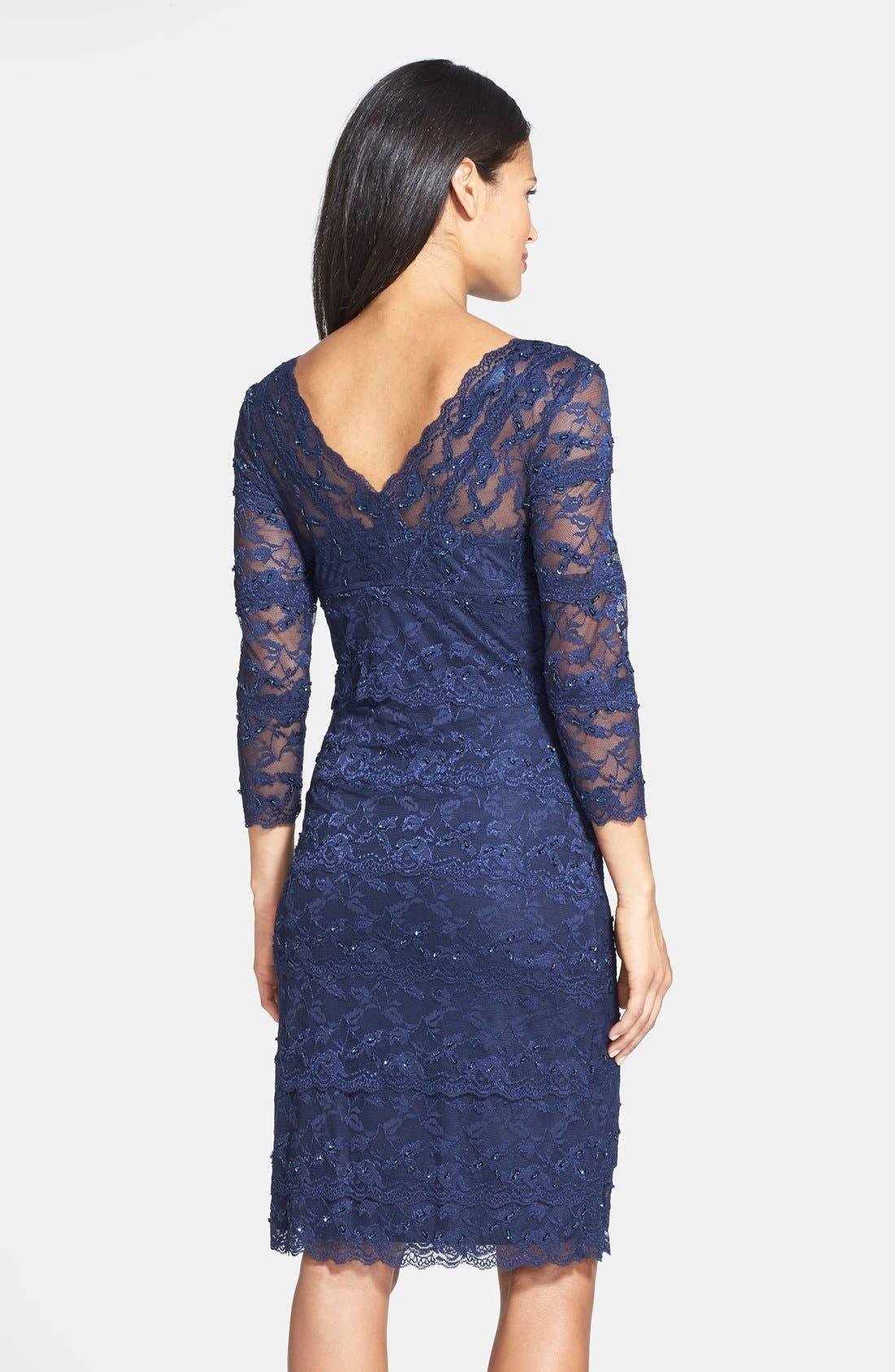 Alternate Image 2  - Marina Tiered Lace Dress