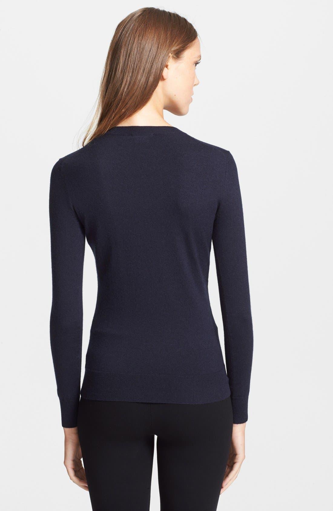Alternate Image 2  - Theory 'Perfect' Cashmere Blend Crewneck Sweater