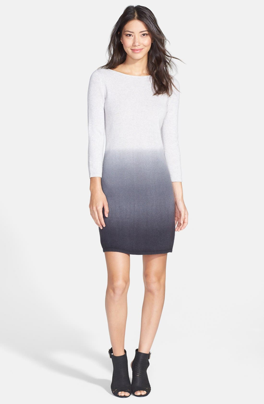 Alternate Image 3  - Only Mine Dip Dye Wool & Cashmere Sweater Dress (Regular & Petite)