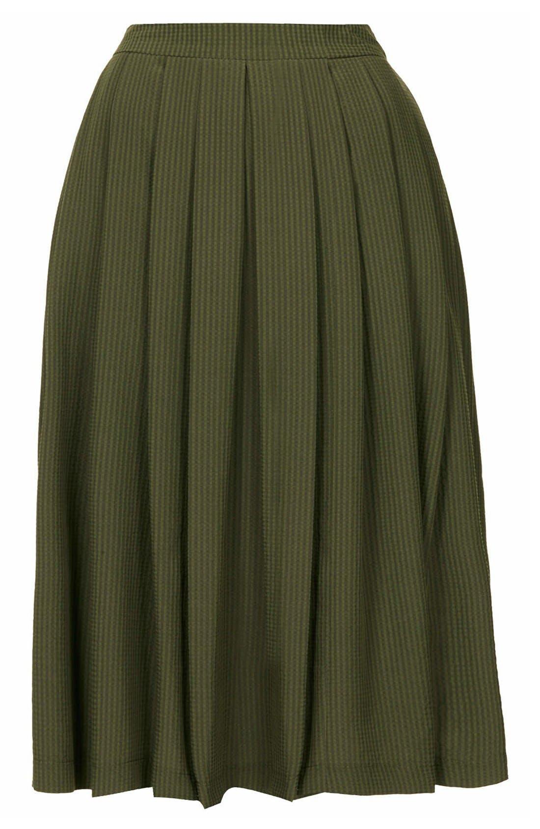 Alternate Image 3  - Topshop Seersucker Midi Skirt