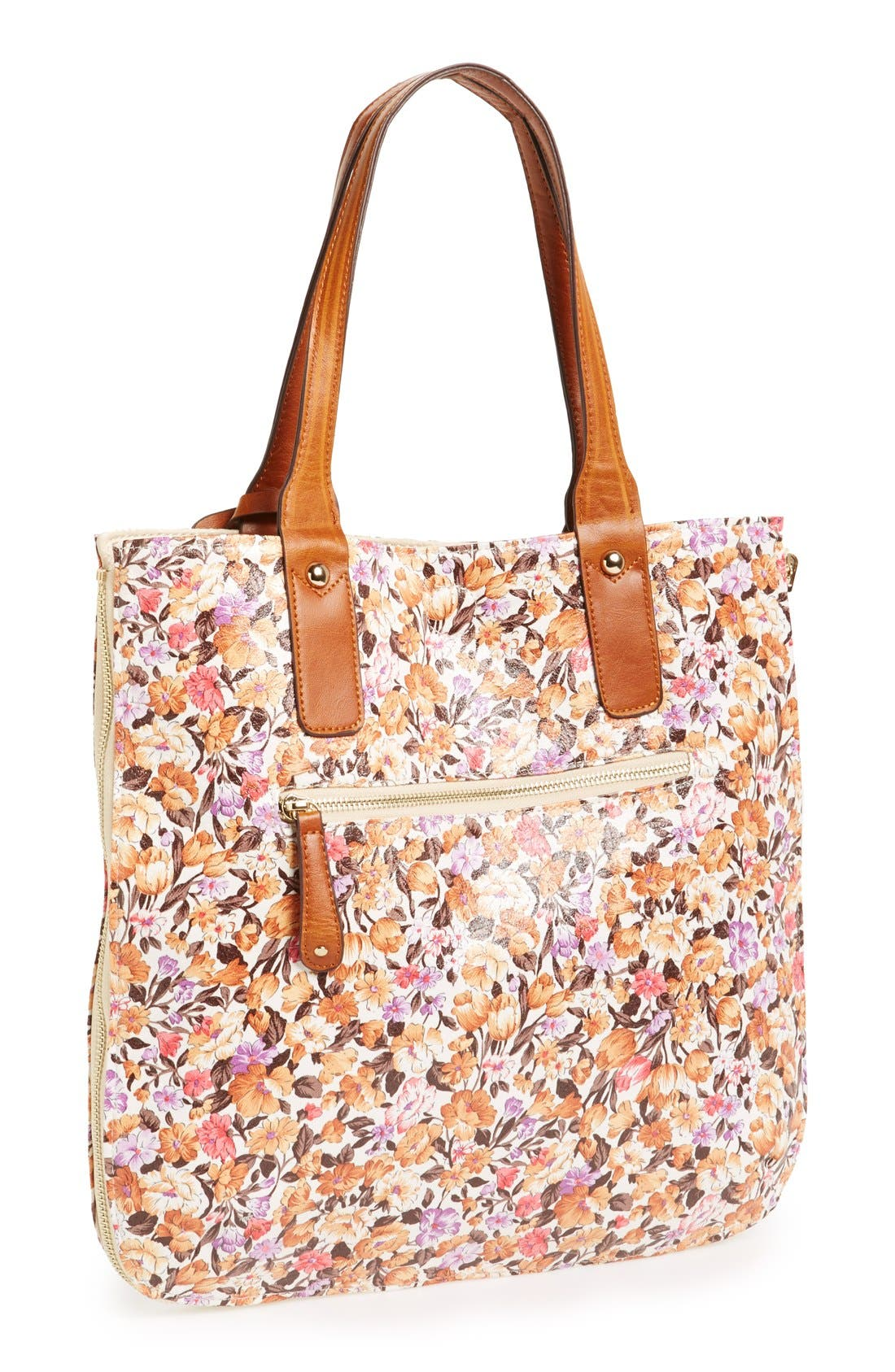 Alternate Image 2  - Street Level Reversible Floral Tote