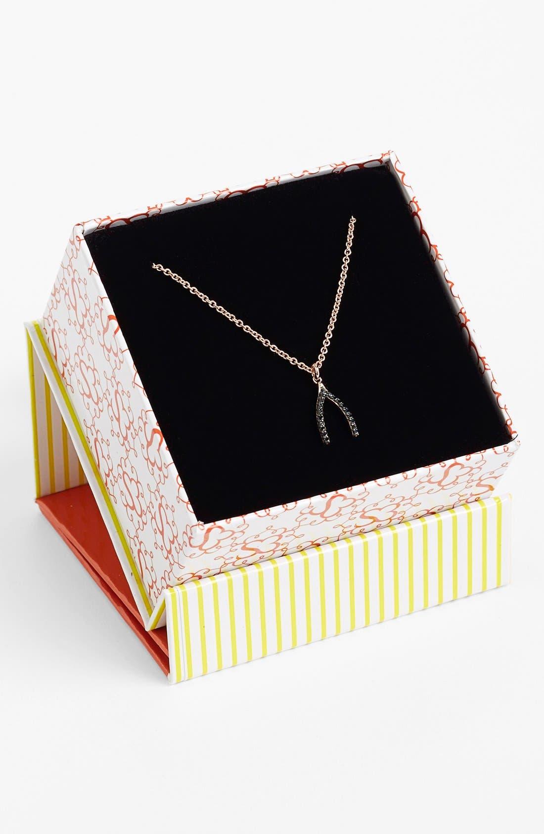 Alternate Image 2  - Sugar Bean Jewelry Wishbone Pendant Necklace